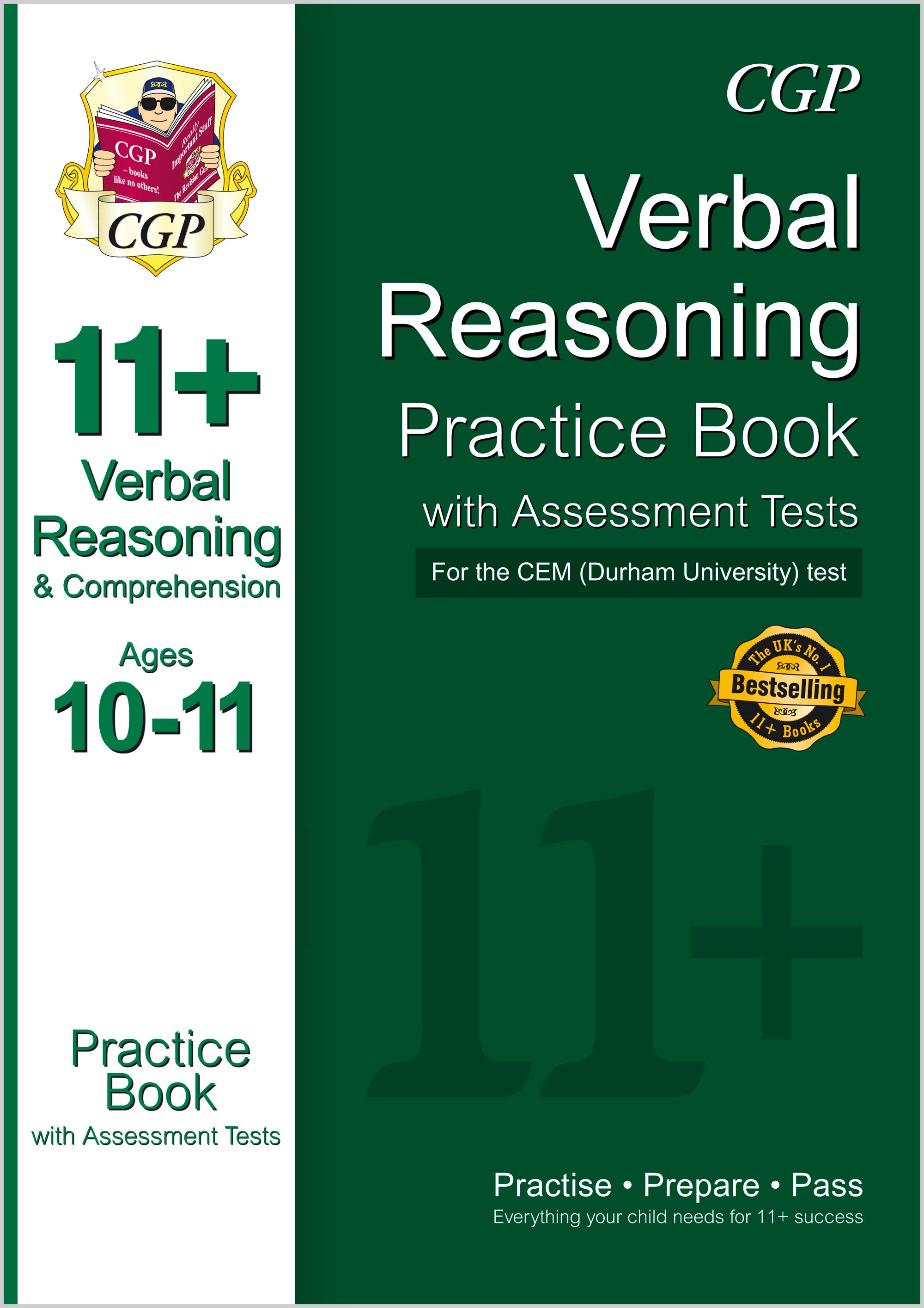 V6QDE1 - 11+ Verbal Reasoning Practice Book with Assessment Tests (Ages 10-11) for the CEM Test