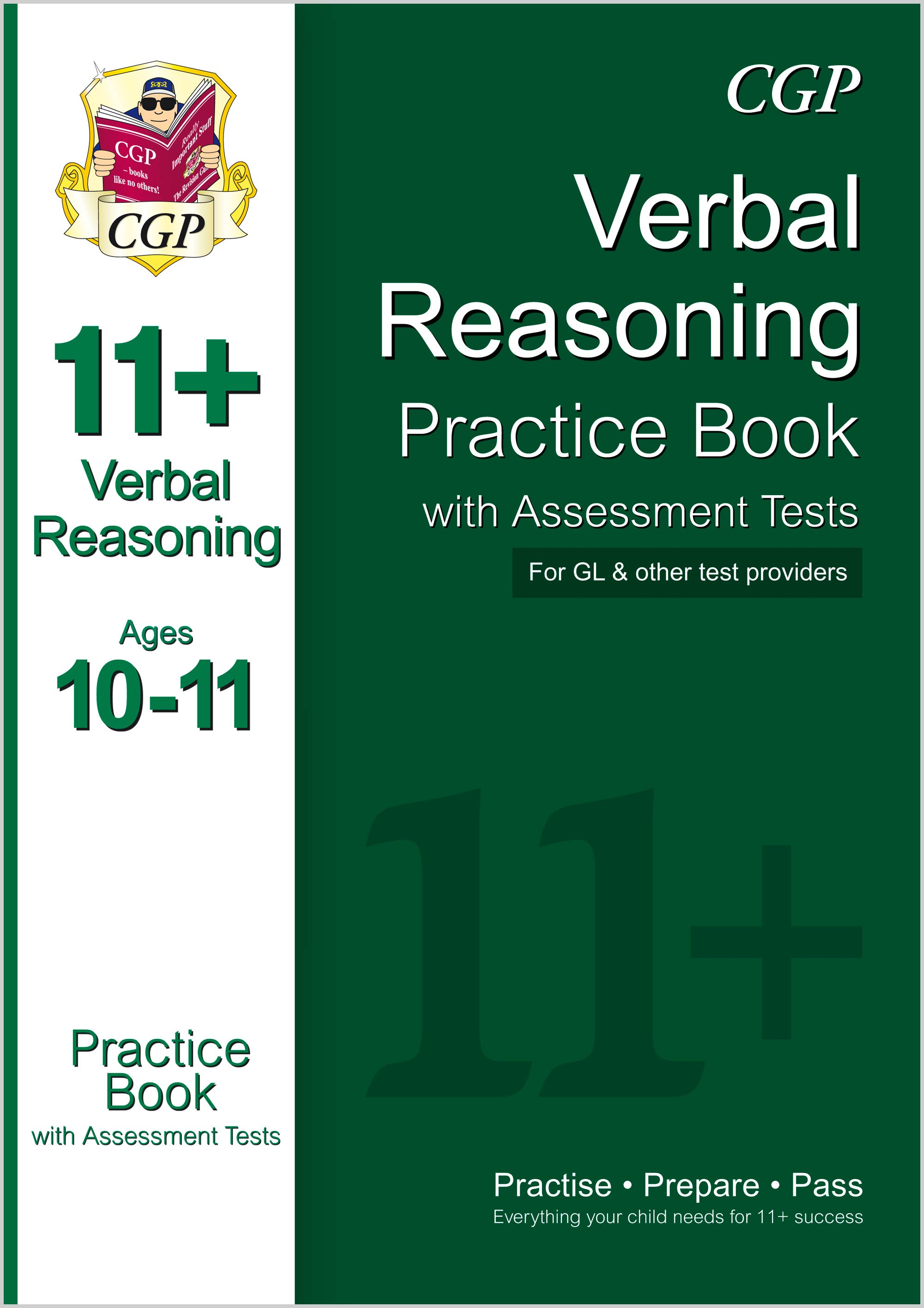 V6QE1 - 11+ Verbal Reasoning Practice Book with Assessment Tests Ages 10-11 (for GL & Other Test Pro