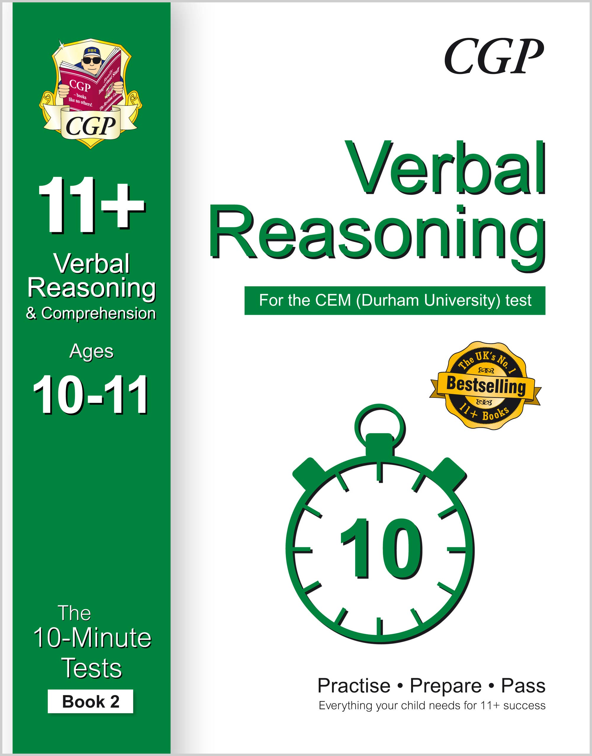 V6XPD2E1 - 10-Minute Tests for 11+ Verbal Reasoning Ages 10-11 (Book 2) - CEM Test