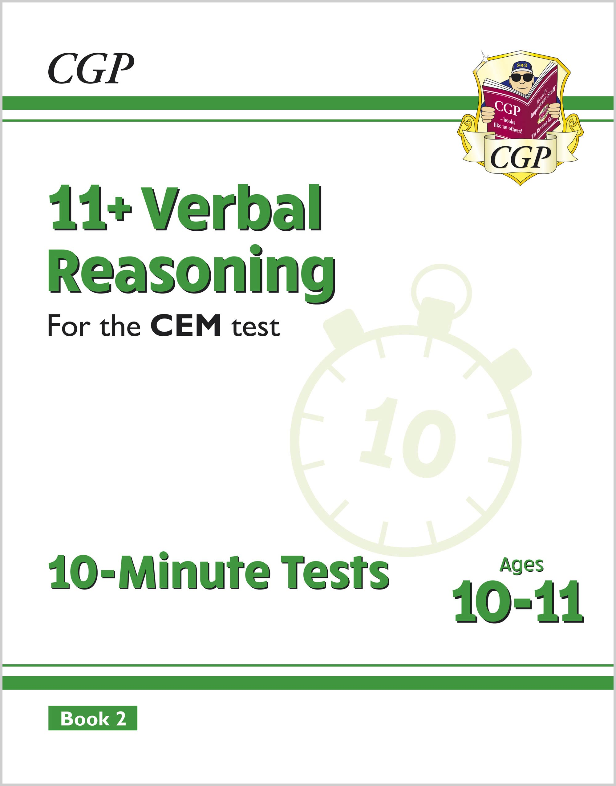 V6XPD2E2DK - New 11+ CEM 10-Minute Tests: Verbal Reasoning - Ages 10-11 Book 2 (with Online Edition)