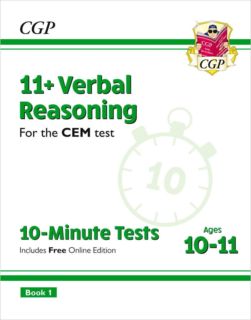 V6XPDE2 - New 11+ CEM 10-Minute Tests: Verbal Reasoning - Ages 10-11 Book 1 (with Online Edition)