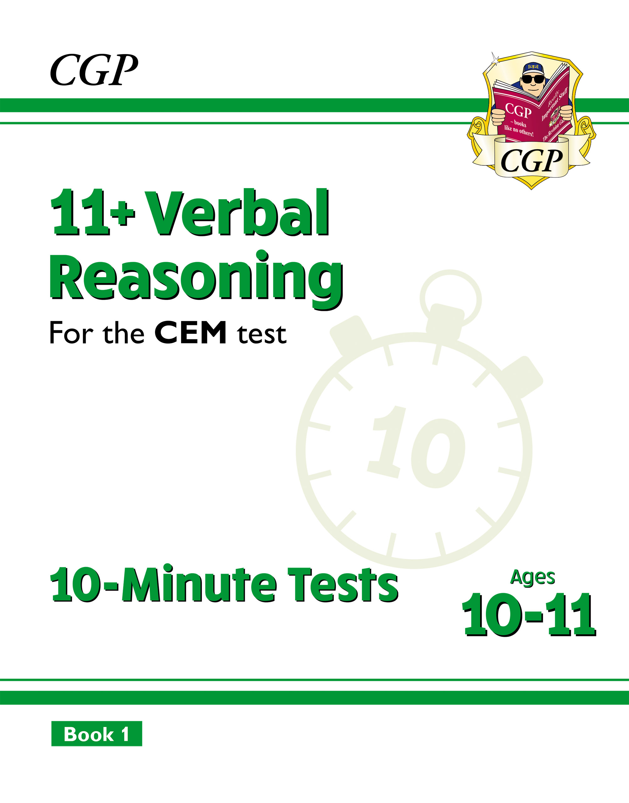 V6XPDE2DK - New 11+ CEM 10-Minute Tests: Verbal Reasoning - Ages 10-11 Book 1 (with Online Edition)