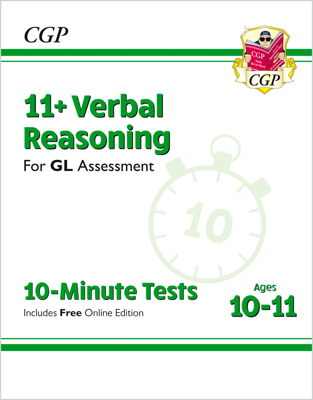 V6XPE2 - 11+ GL 10-Minute Tests: Verbal Reasoning - Ages 10-11 (with Online Edition)