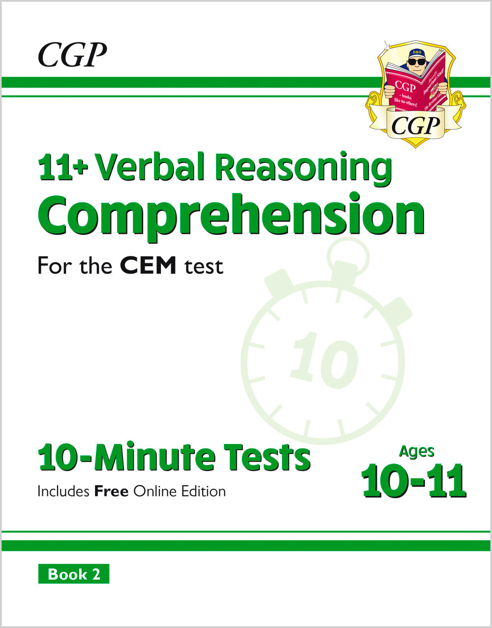 VCXPD2E2 - 11+ CEM 10-Minute Tests: Comprehension - Ages 10-11 Book 2 (with Online Edition)