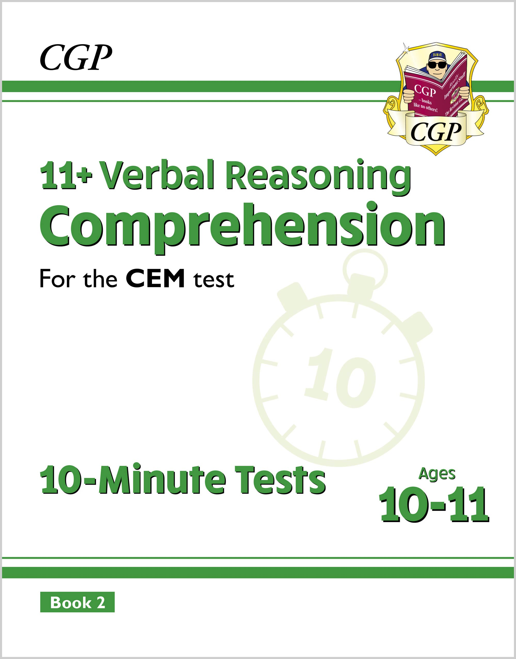 VCXPD2E2DK - New 11+ CEM 10-Minute Tests: Comprehension - Ages 10-11 Book 2 (with Online Edition)