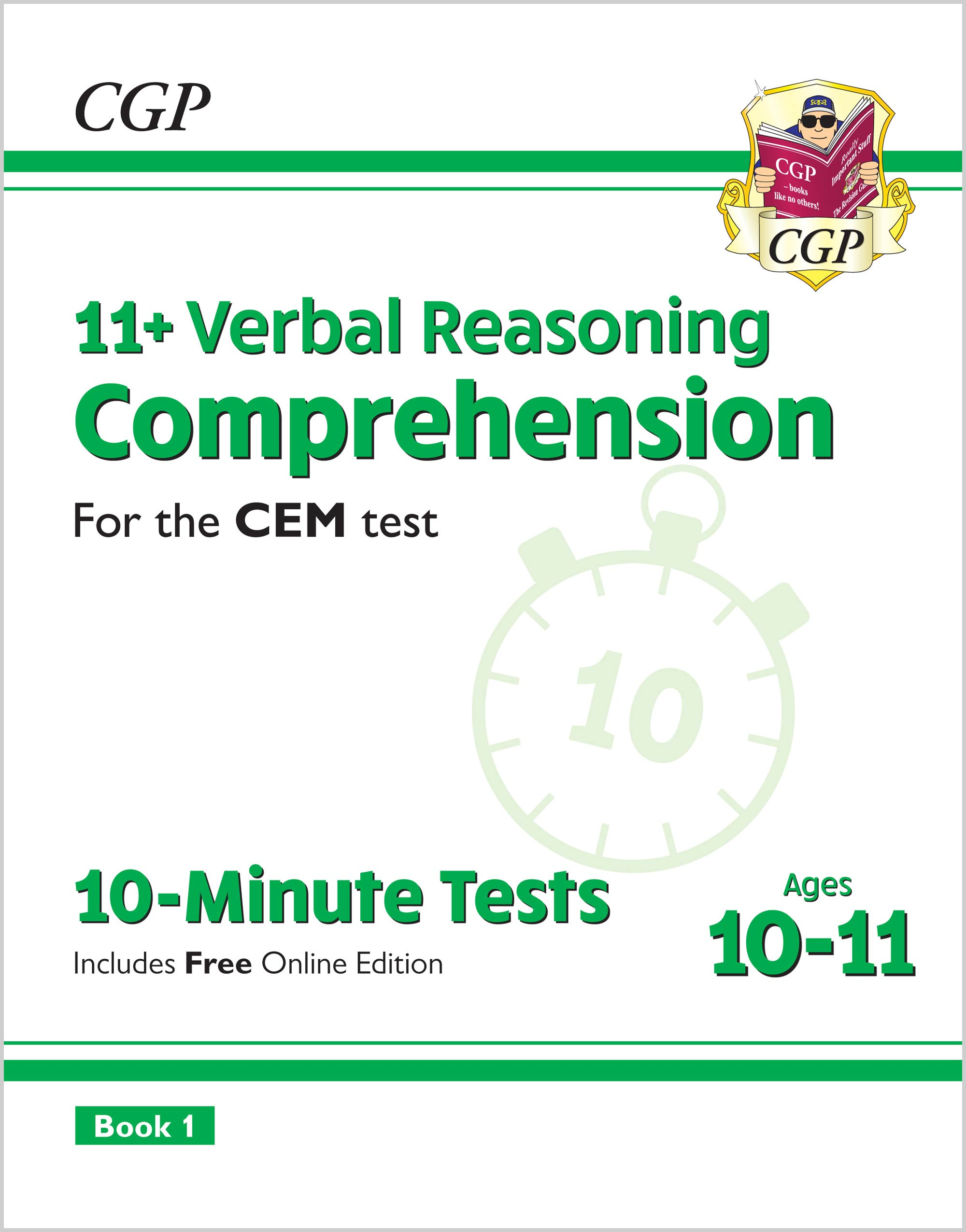 VCXPDE2 - 11+ CEM 10-Minute Tests: Comprehension - Ages 10-11 Book 1 (with Online Edition)