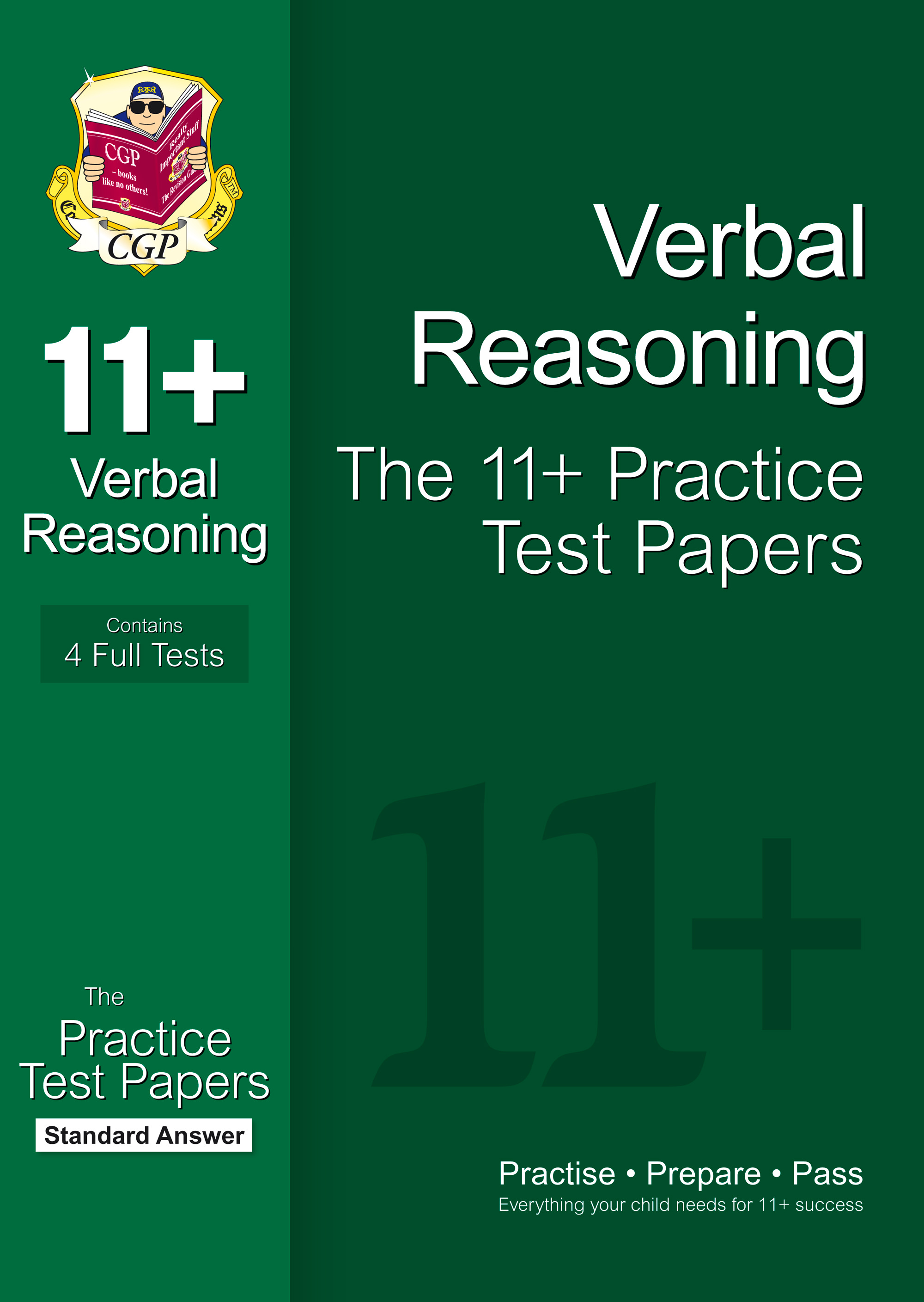 VHPE1 - 11+ Verbal Reasoning Practice Papers: Standard Answers (for GL & Other Test Providers)