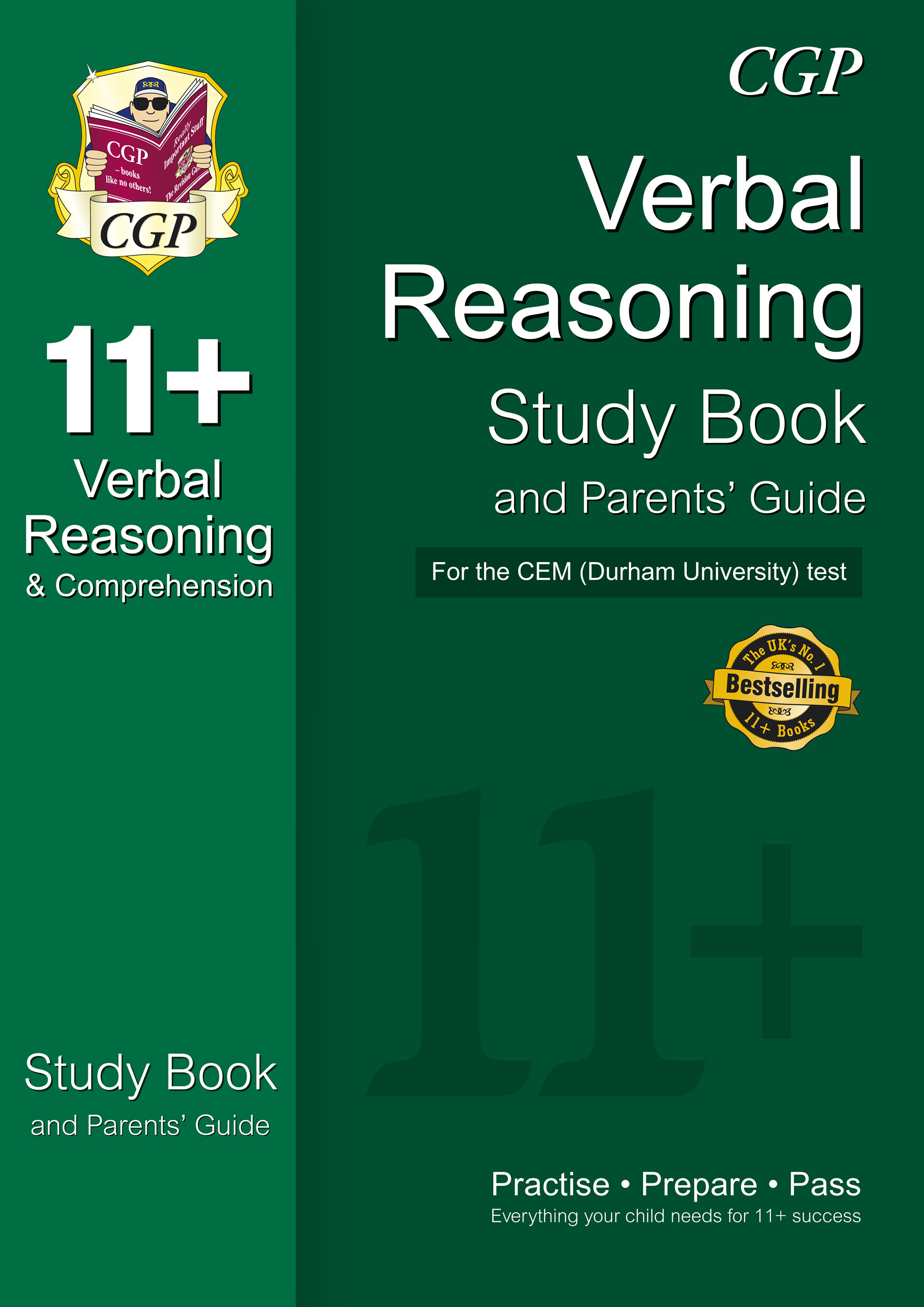 VHRDE1 - 11+ Verbal Reasoning Study Book and Parents' Guide for the CEM Test