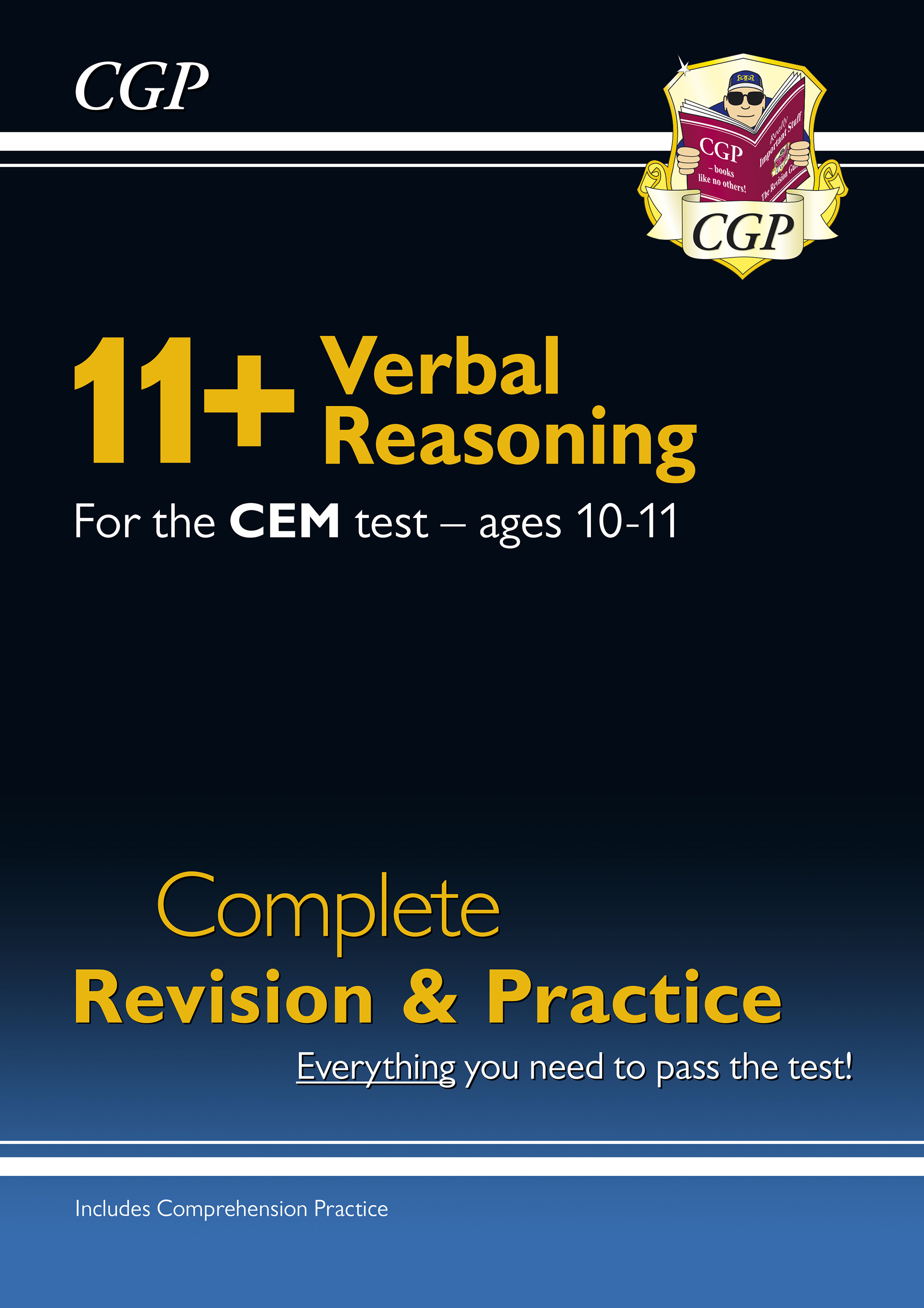 VHSDE1DK - New 11+ CEM Verbal Reasoning Complete Revision and Practice - Ages 10-11