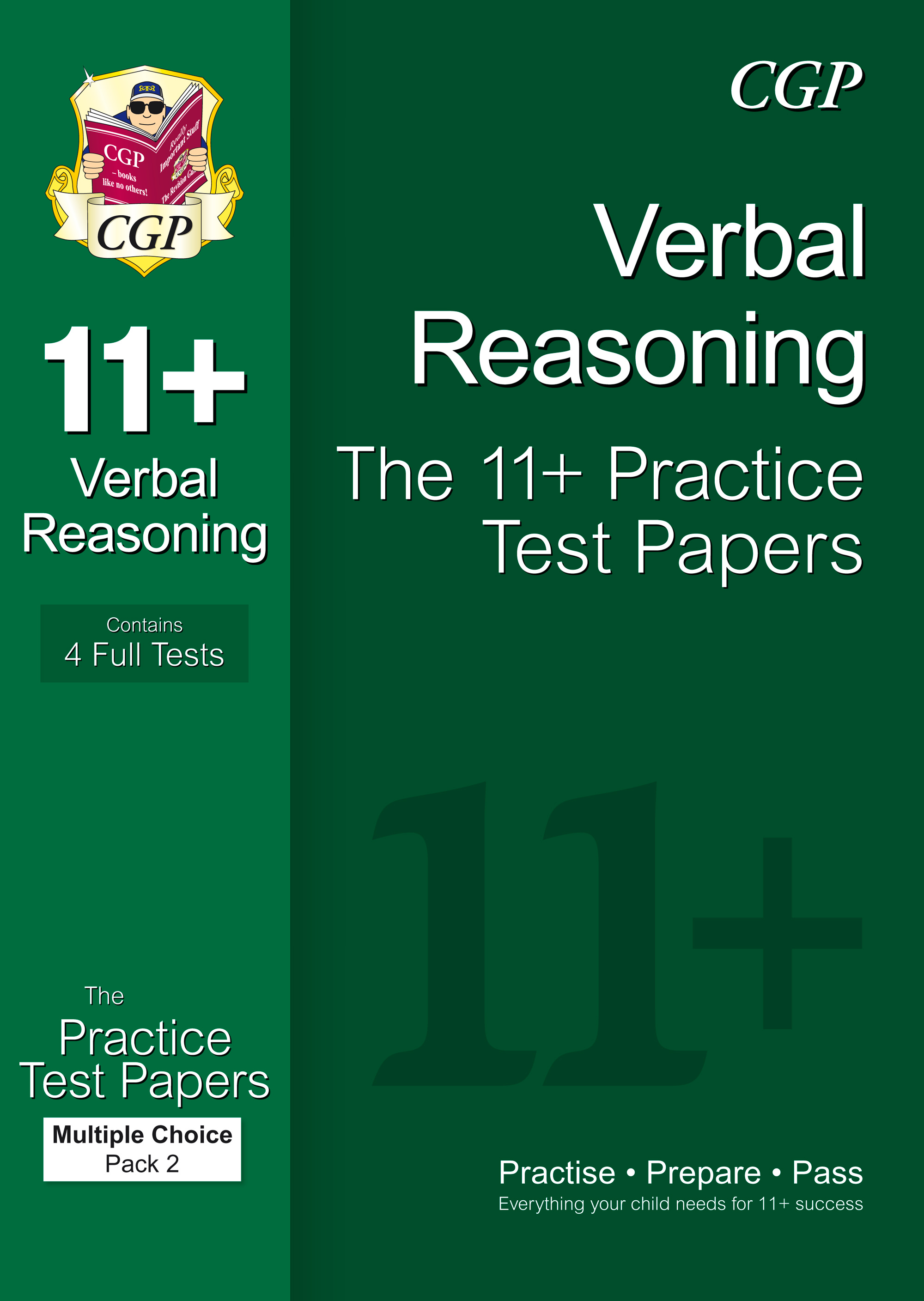 VHT2E1 - 11+ Verbal Reasoning Practice Papers: Multiple Choice - Pack 2 (for GL & Other Test Provide