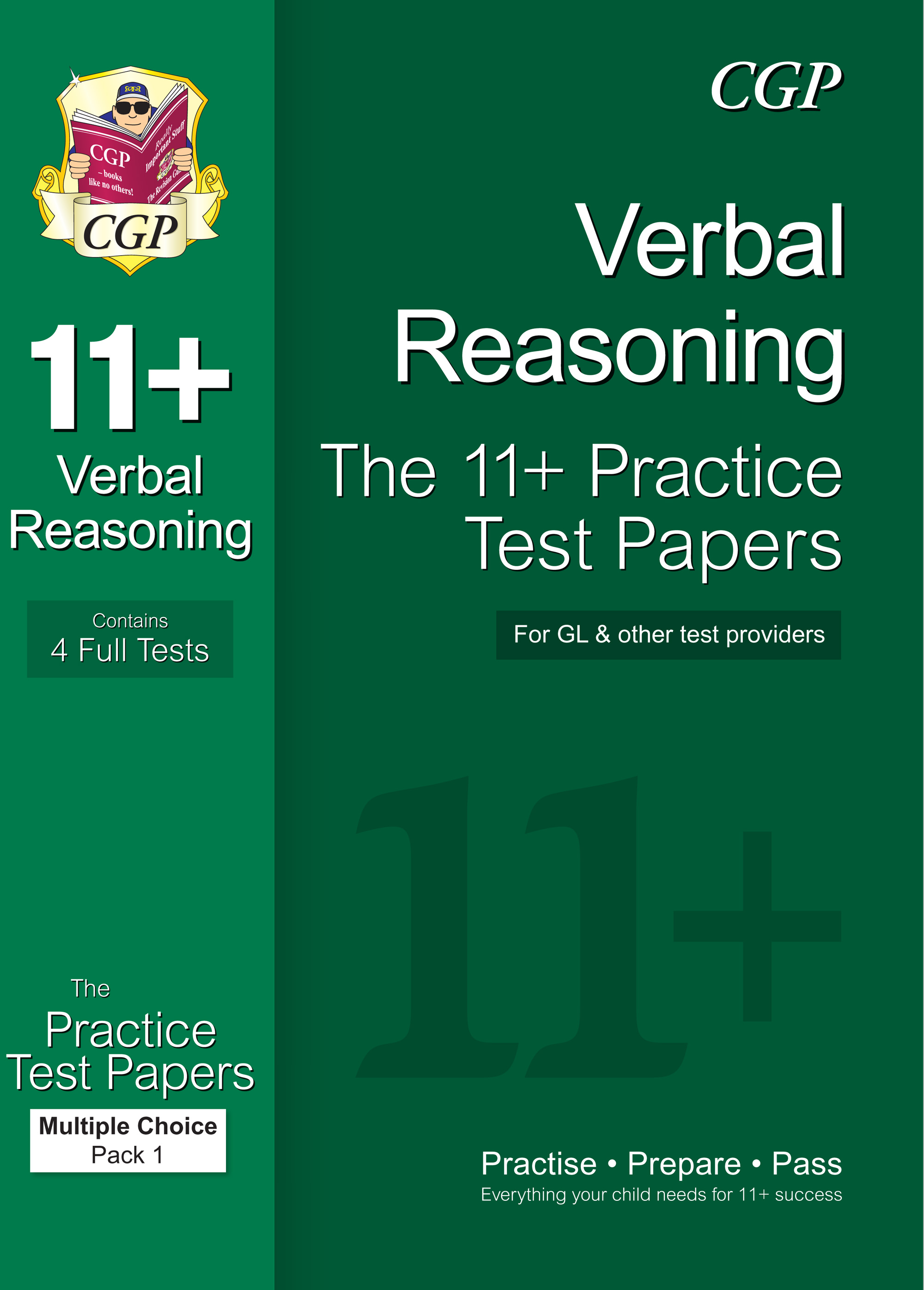 VHTE1 - 11+ Verbal Reasoning Practice Papers: Multiple Choice - Pack 1 (for GL & Other Test Provider