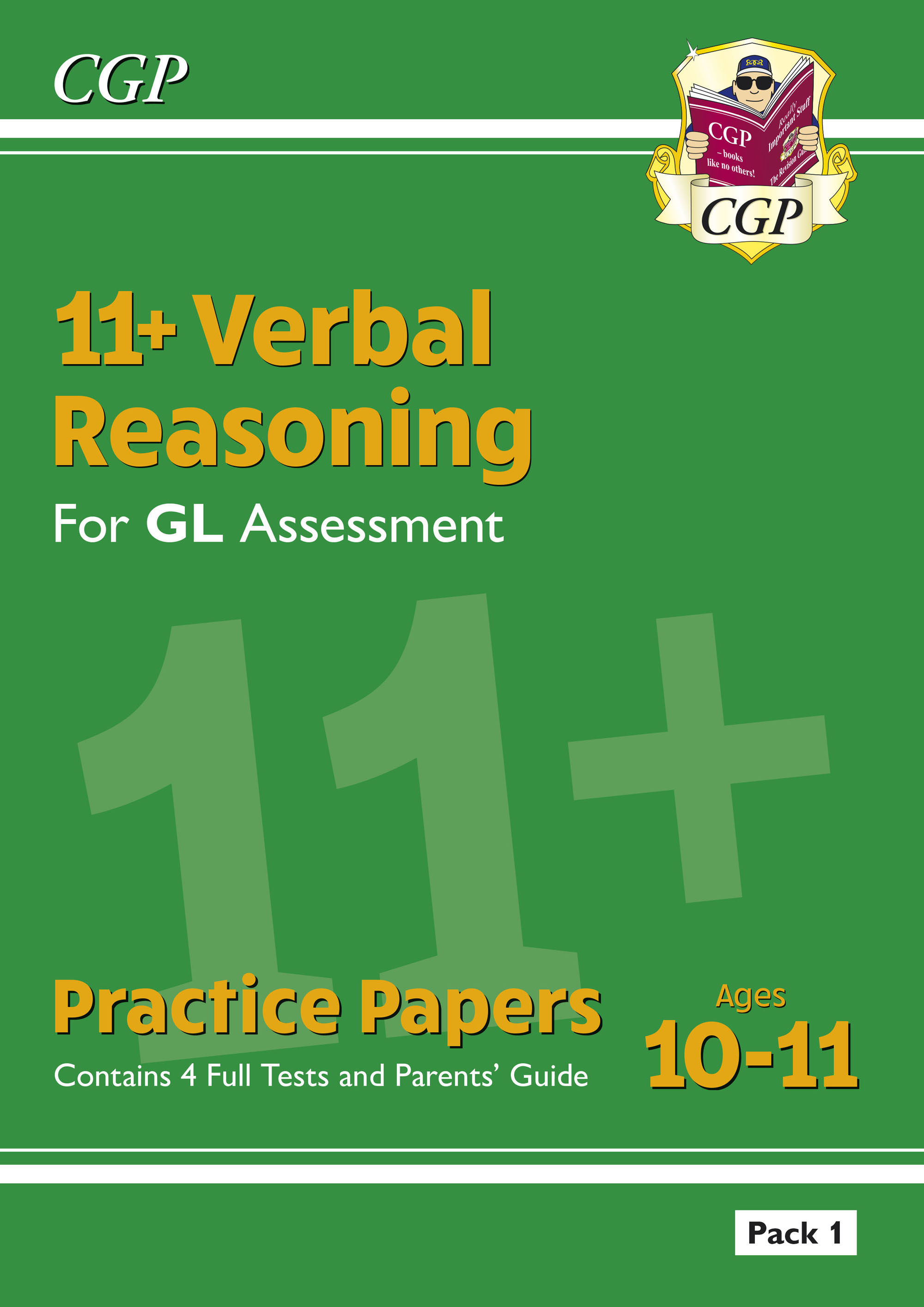 VHTE2DK - New 11+ GL Verbal Reasoning Practice Papers: Pack 1 (with Parents' Guide)