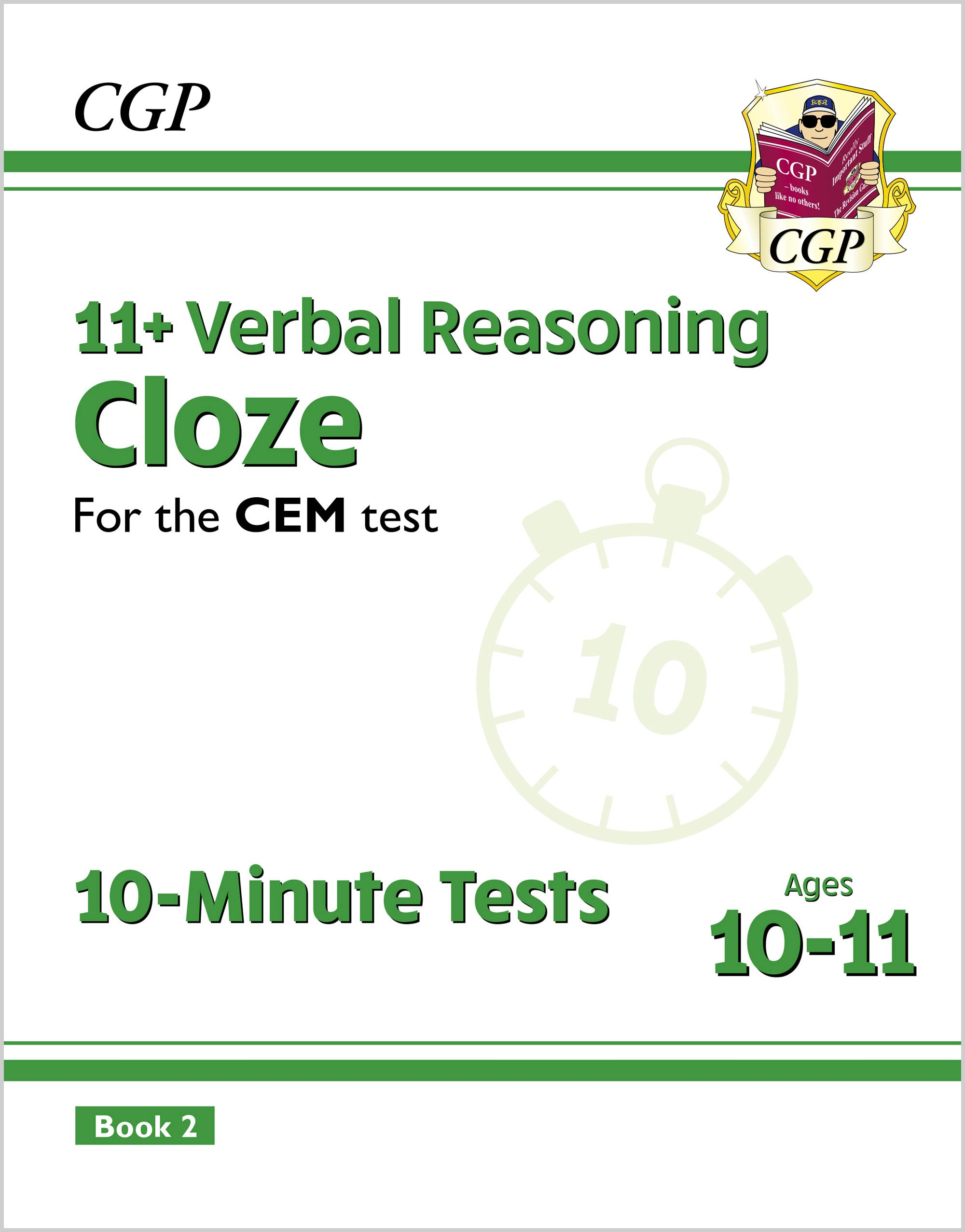 VLXPD2E2DK - New 11+ CEM 10-Minute Tests: Verbal Reasoning Cloze - Ages 10-11 Book 2 (with Online Ed