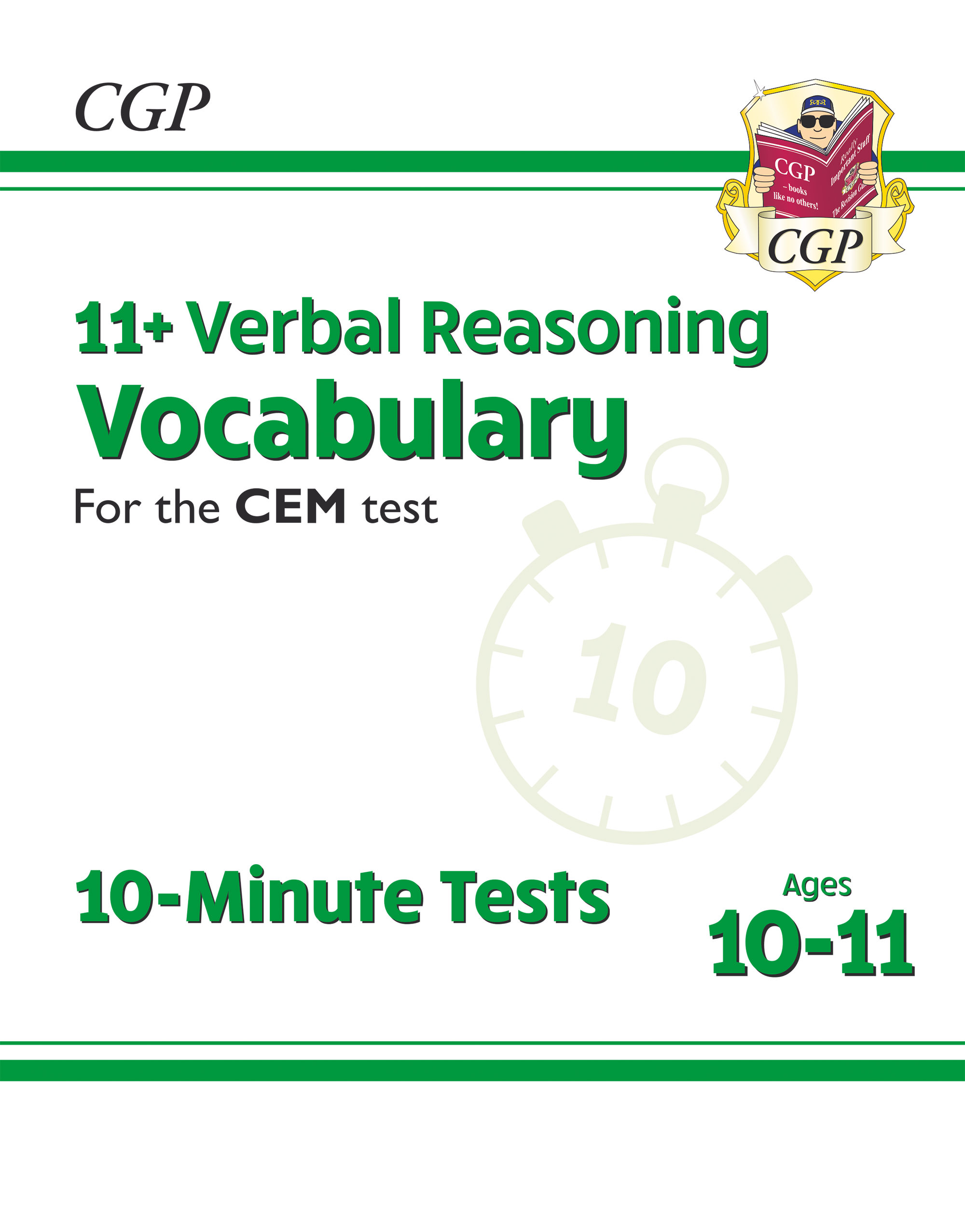 VVXPDE2DK - New 11+ CEM 10-Minute Tests: Verbal Reasoning Vocabulary - Ages 10-11 (with Online Editi