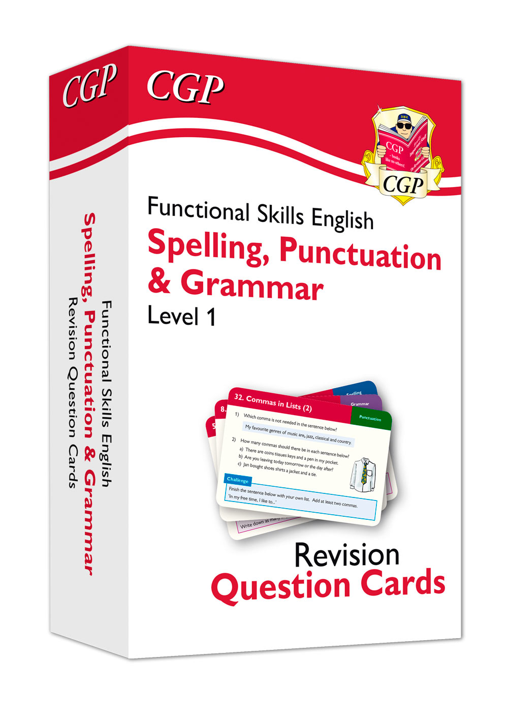 E1GFA1 - New Functional Skills English Revision Question Cards: Spelling, Punctuation & Grammar - Le