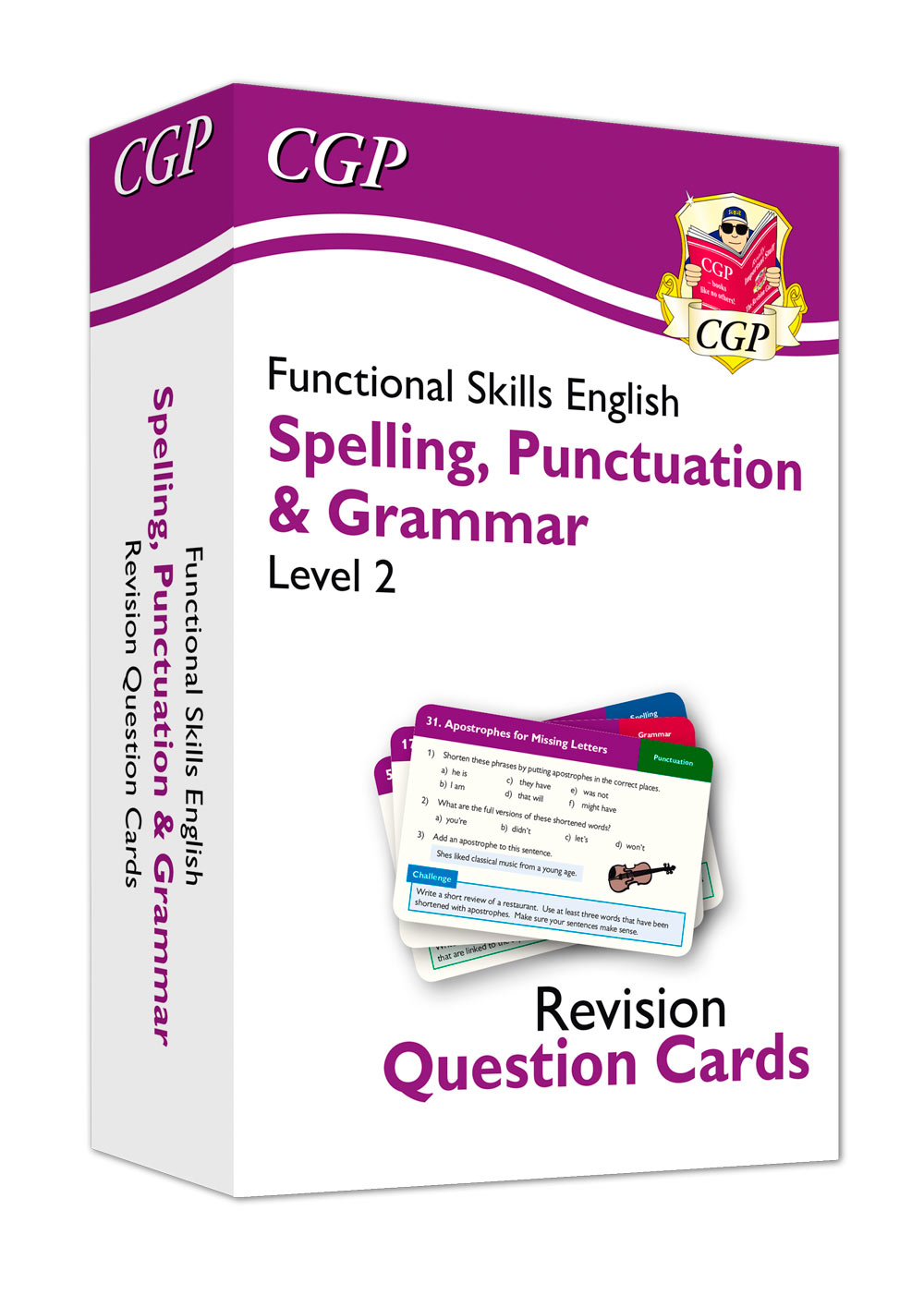 E2GFA1 - New Functional Skills English Revision Question Cards: Spelling, Punctuation & Grammar - Le