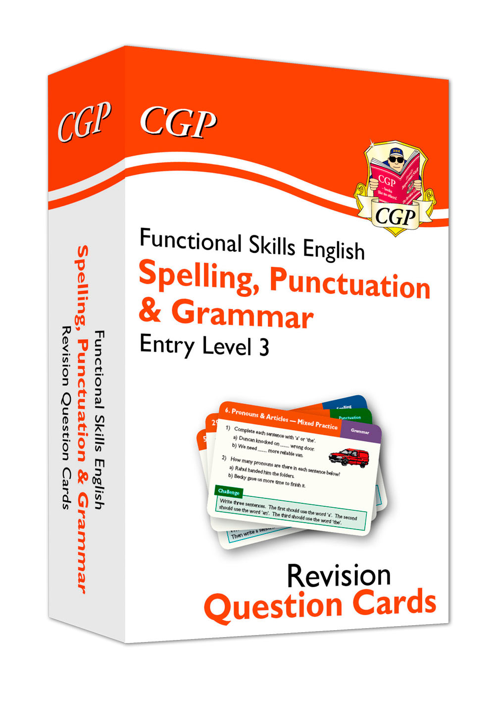 E3GFA1 - New Functional Skills English Revision Question Cards: Spelling, Punctuation & Grammar Entr
