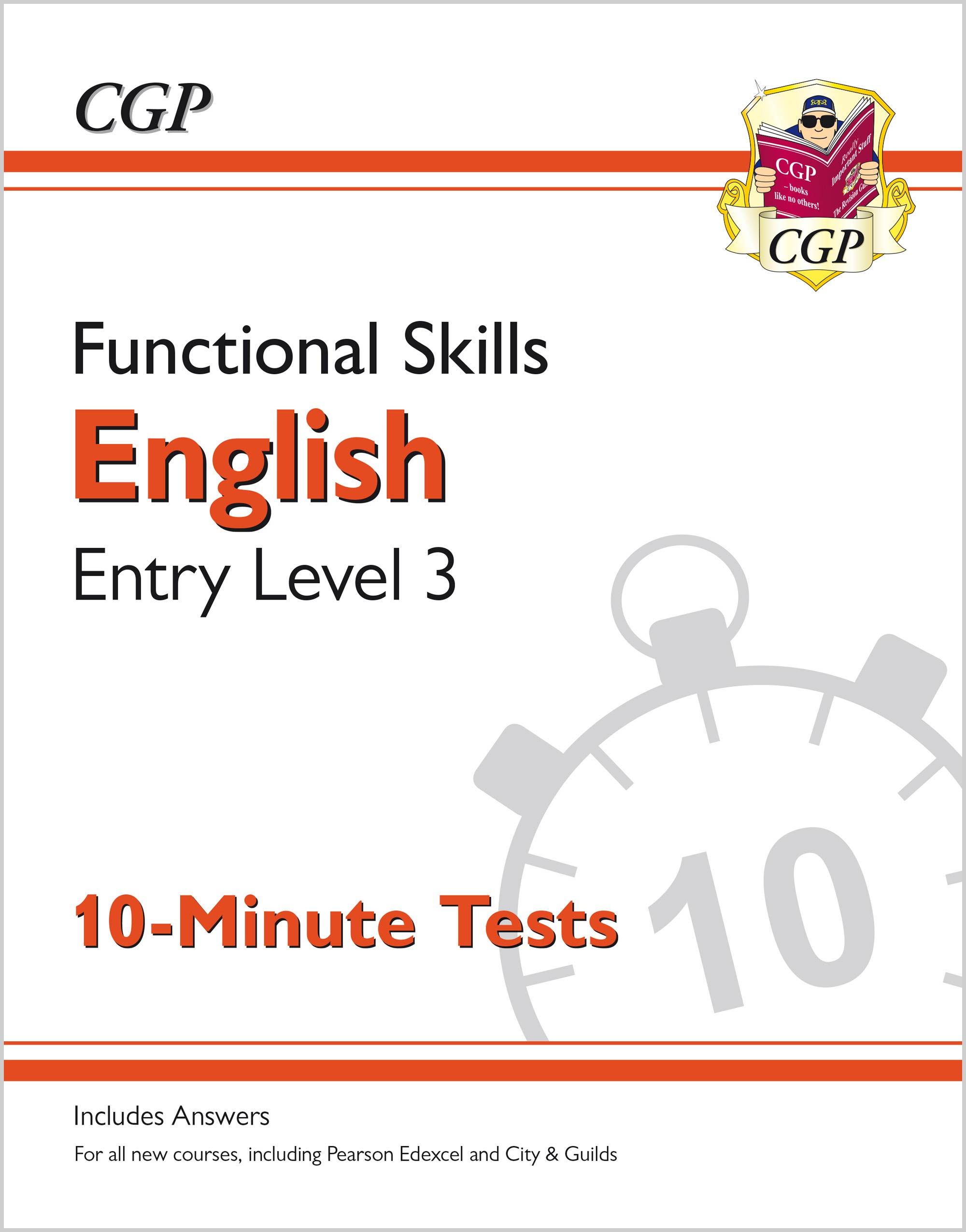 E3XPA1 - New Functional Skills English Entry Level 3 - 10 Minute Tests (for 2020 & beyond)