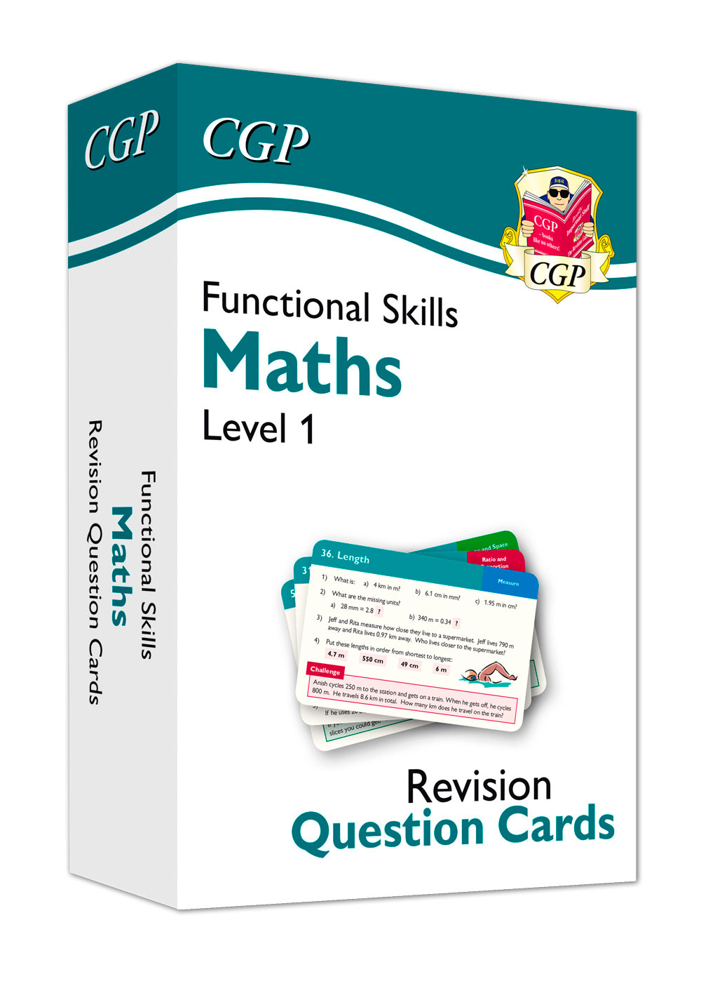 M1NFA1 - New Functional Skills Maths Revision Question Cards - Level 1