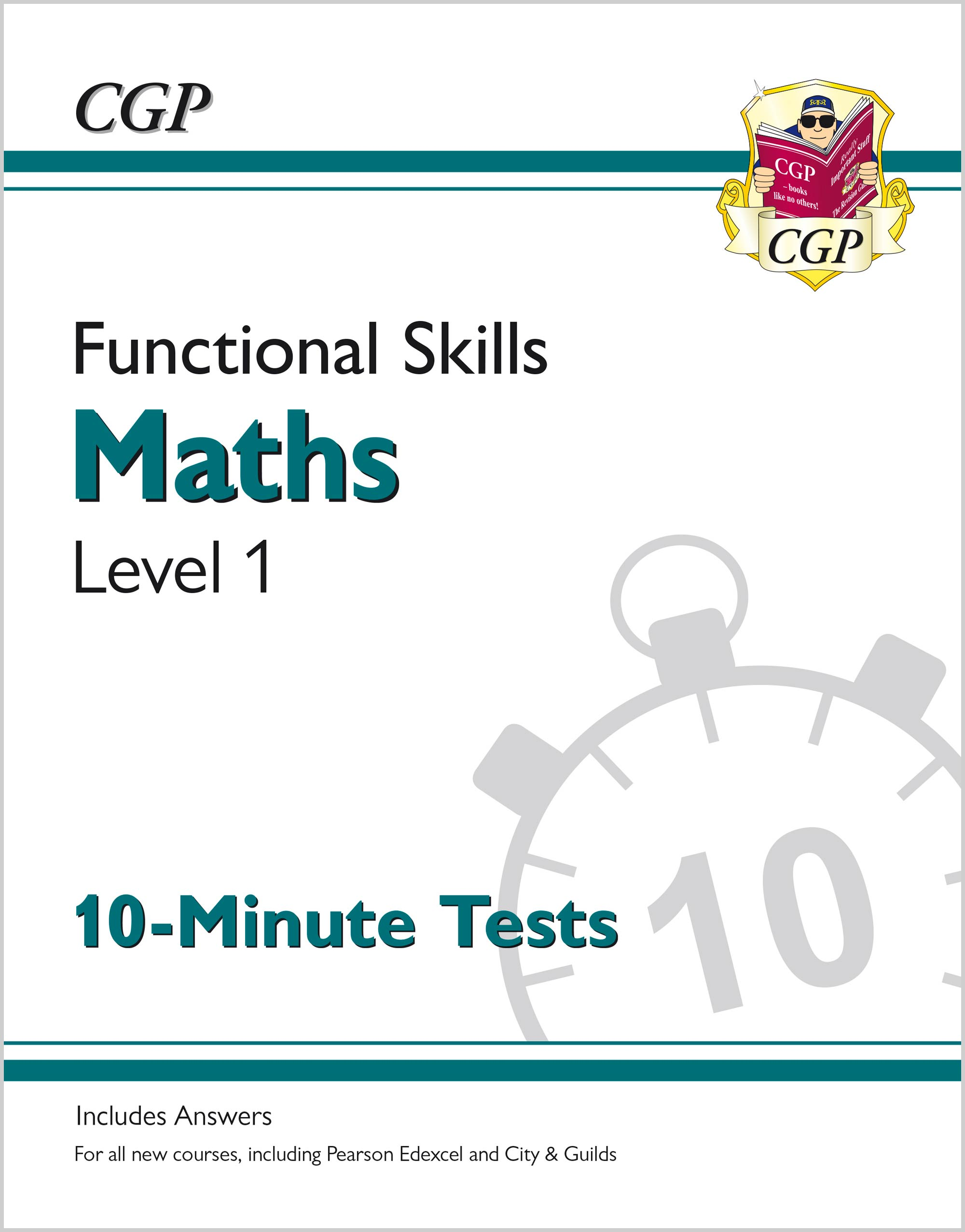 M1XPA1 - New Functional Skills Maths Level 1 - 10 Minute Tests (for 2020 & beyond)