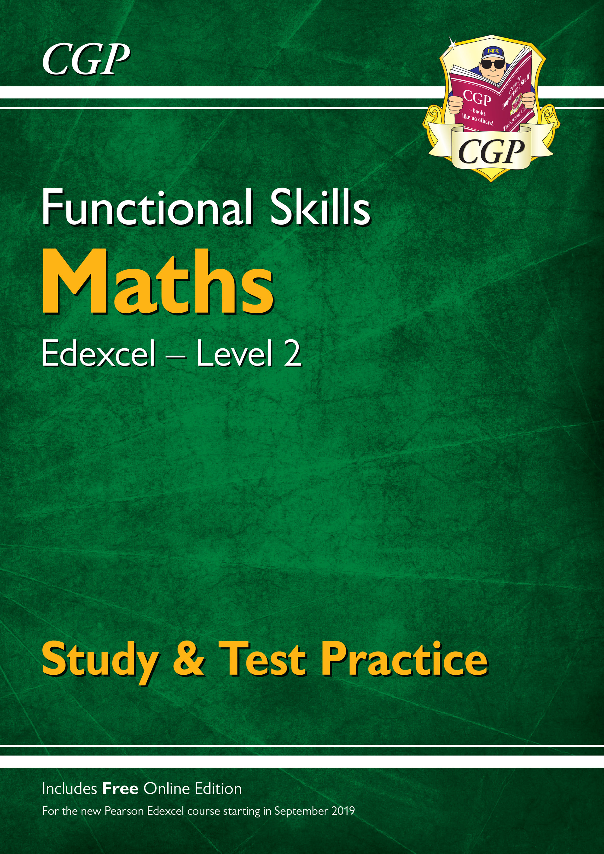M2ESRA1 - New Functional Skills Maths: Edexcel Level 2 - Study & Test Practice (for 2019 & beyond)