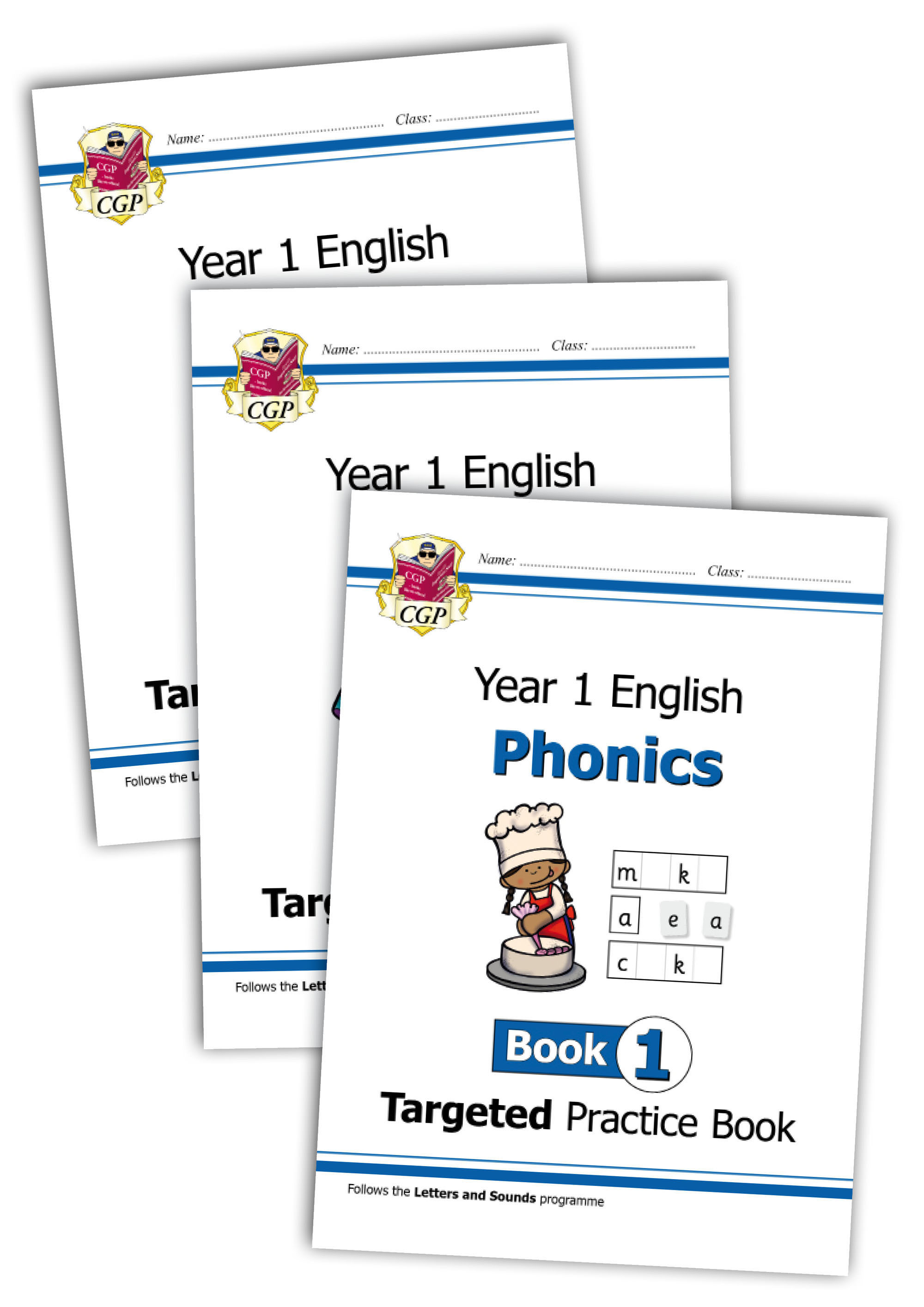 E1OWB11 - KS1 English Targeted Practice Book Bundle: Phonics - Year 1 Books 1-3