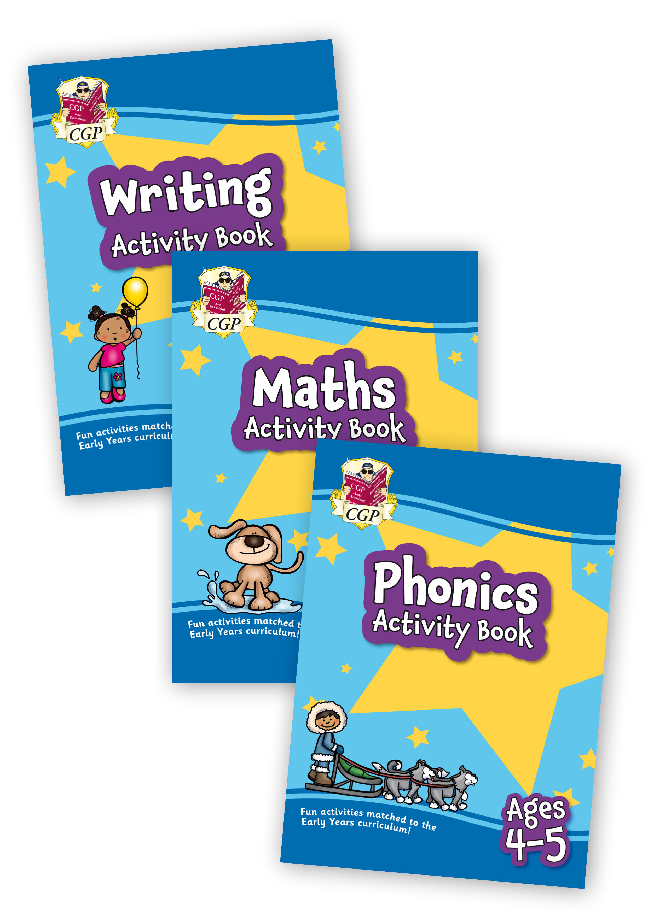 EMPFRB01 - New Home Learning Activity Books - 3-book bundle: Early Years Ages 4-5