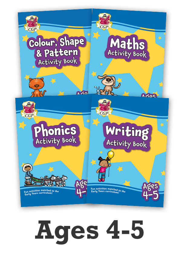 EMPFRB02 - New Ages 4-5 Activity Books - 4-book bundle