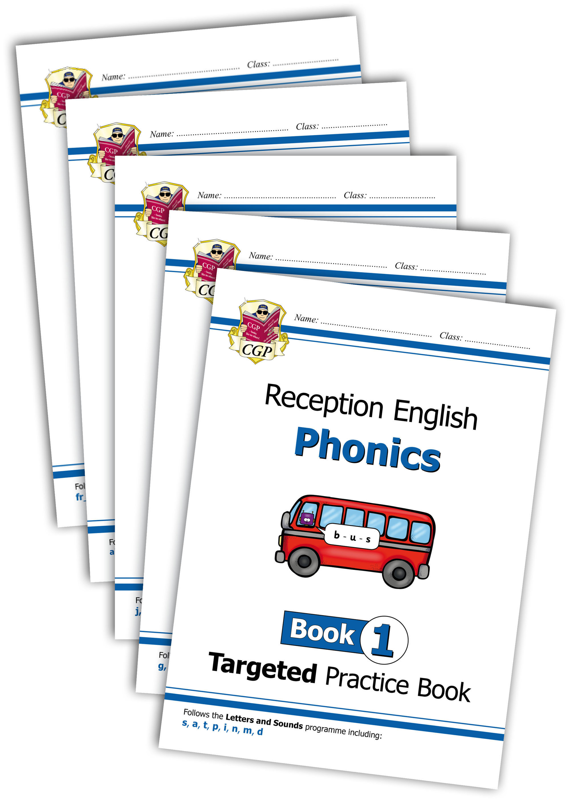 EROWB11 - English Targeted Practice Book Bundle: Phonics - Reception Books 1-5
