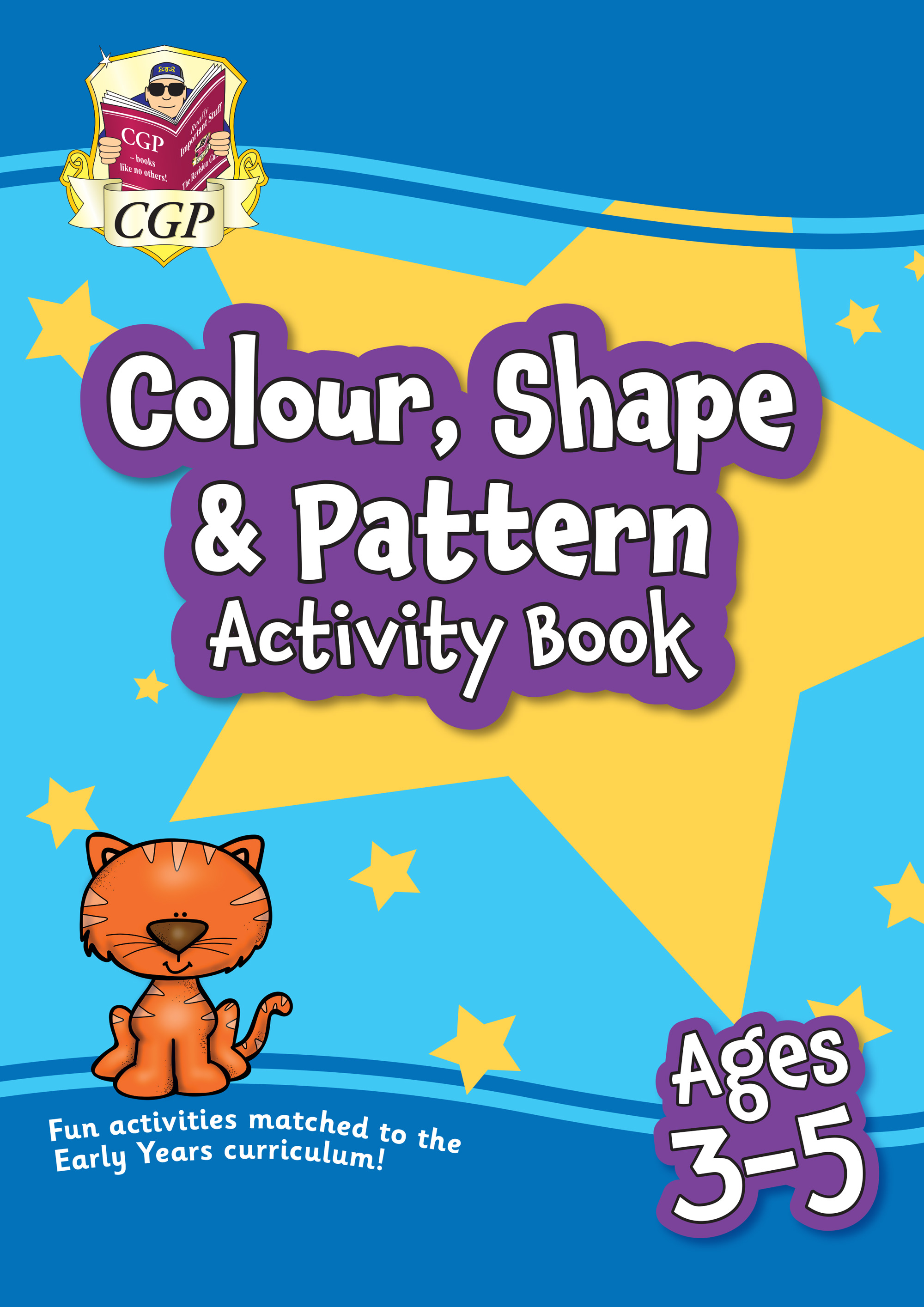 MPFPRQ01 - New Colour, Shape & Pattern Maths Home Learning Activity Book for Ages 3-5