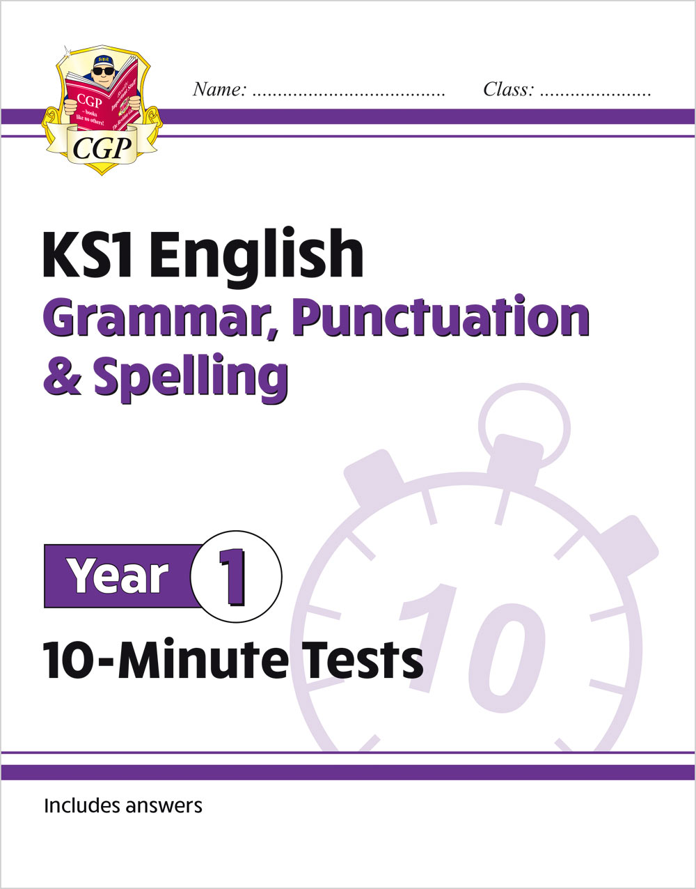 E1GXP11 - New KS1 English 10-Minute Tests: Grammar, Punctuation & Spelling - Year 1