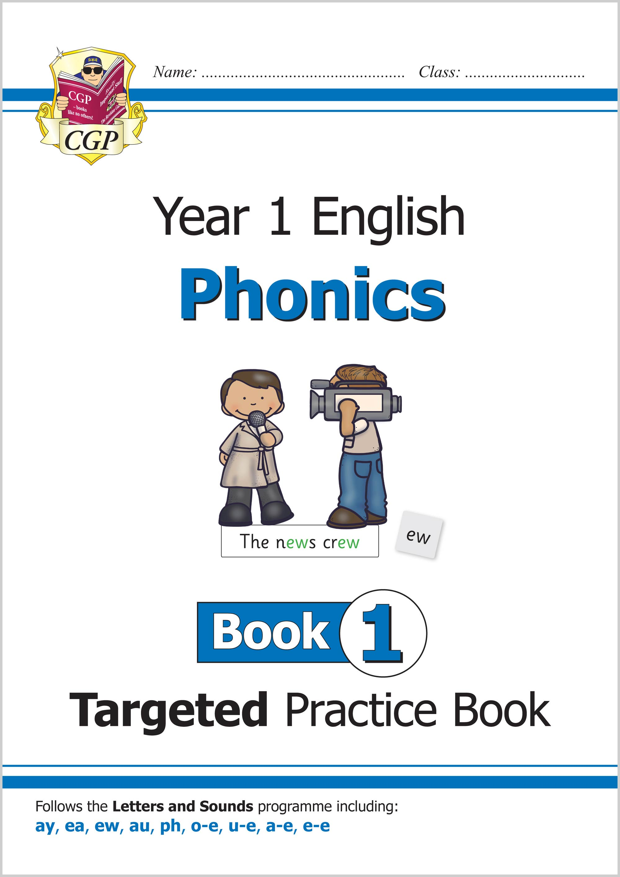 E1OW111 - New KS1 English Targeted Practice Book: Phonics - Year 1 Book 1