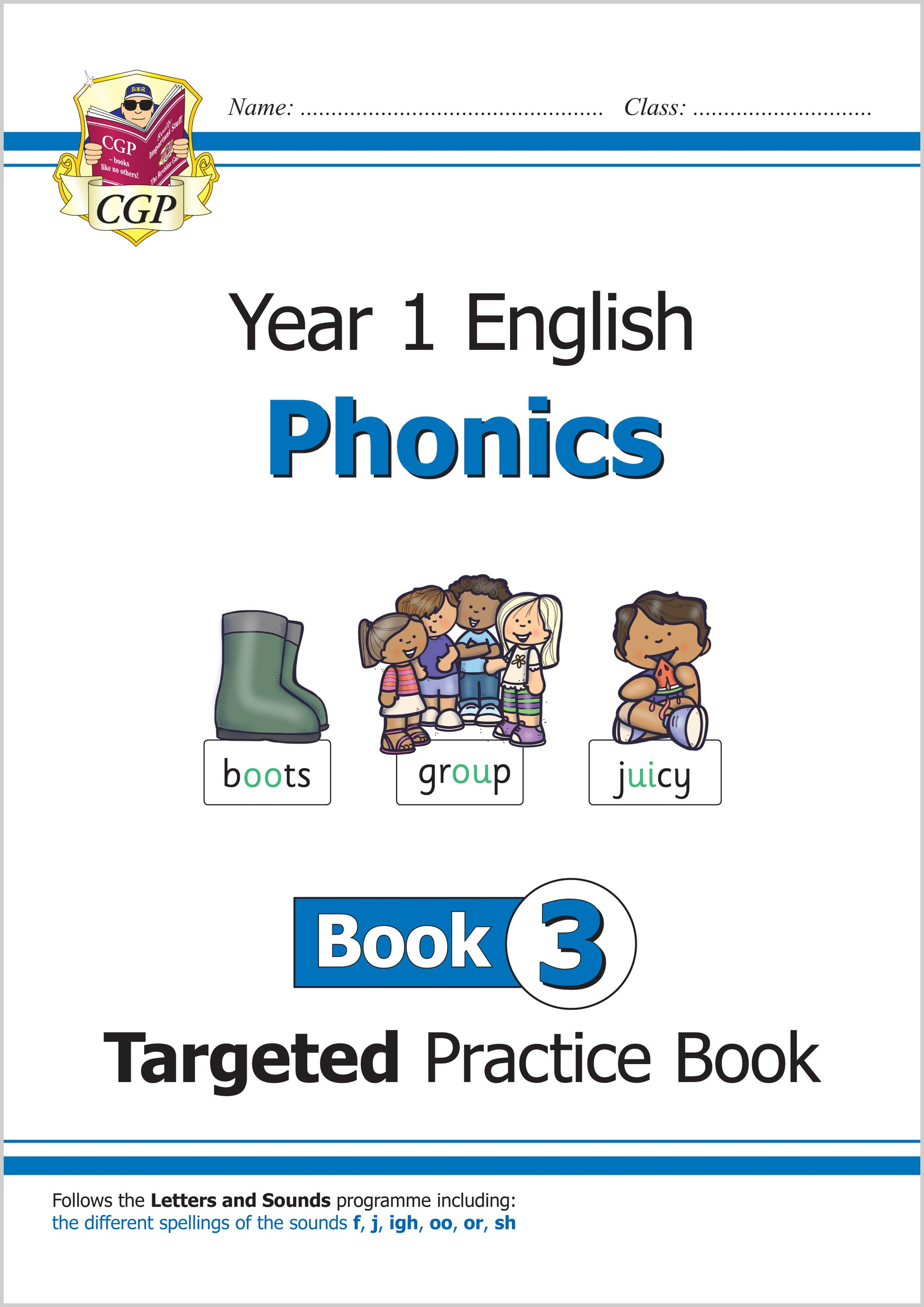 E1OW311 - New KS1 English Targeted Practice Book: Phonics - Year 1 Book 3