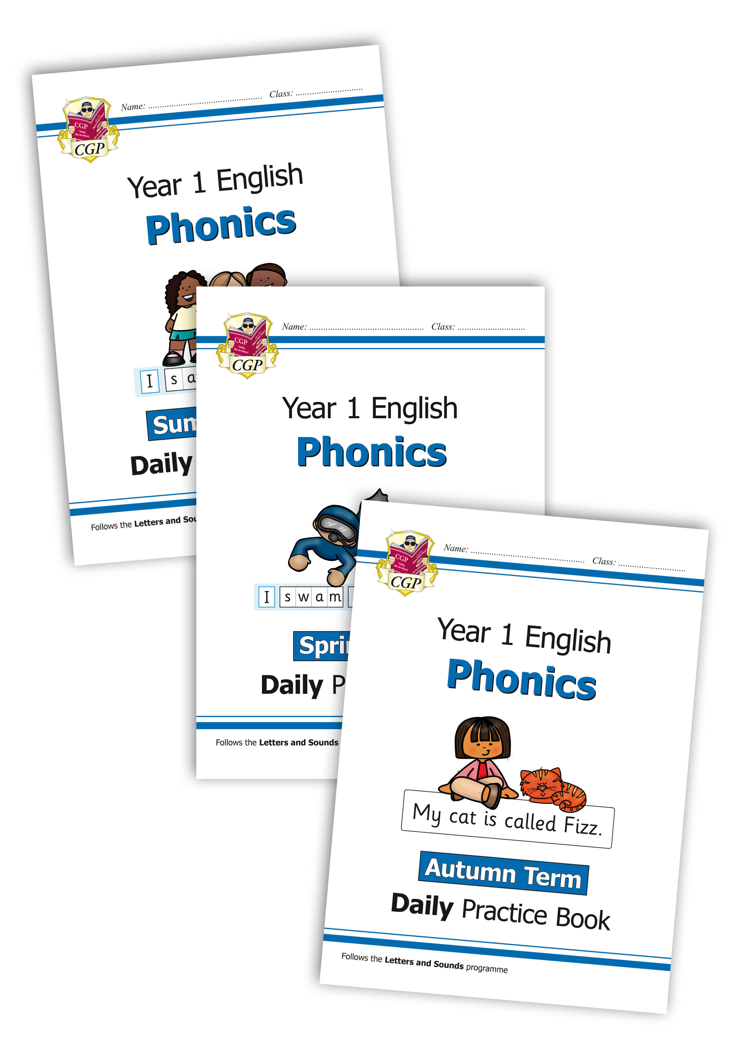 E1OWB211 - New KS1 Phonics Daily Practice Book Bundle: Year 1 - Autumn Term, Spring Term & Summer Te