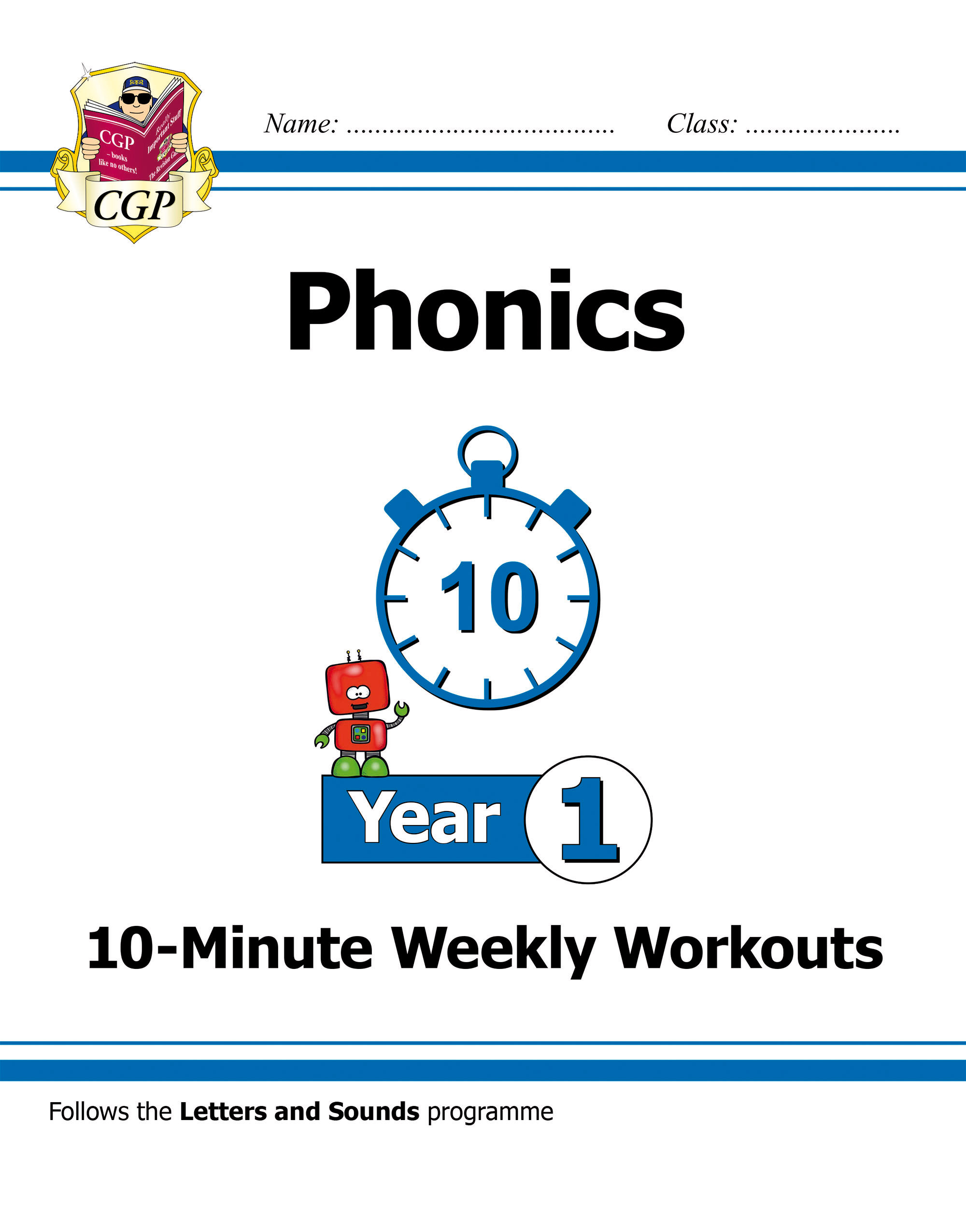E1OXW11DK - New KS1 English 10-Minute Weekly Workouts: Phonics - Year 1