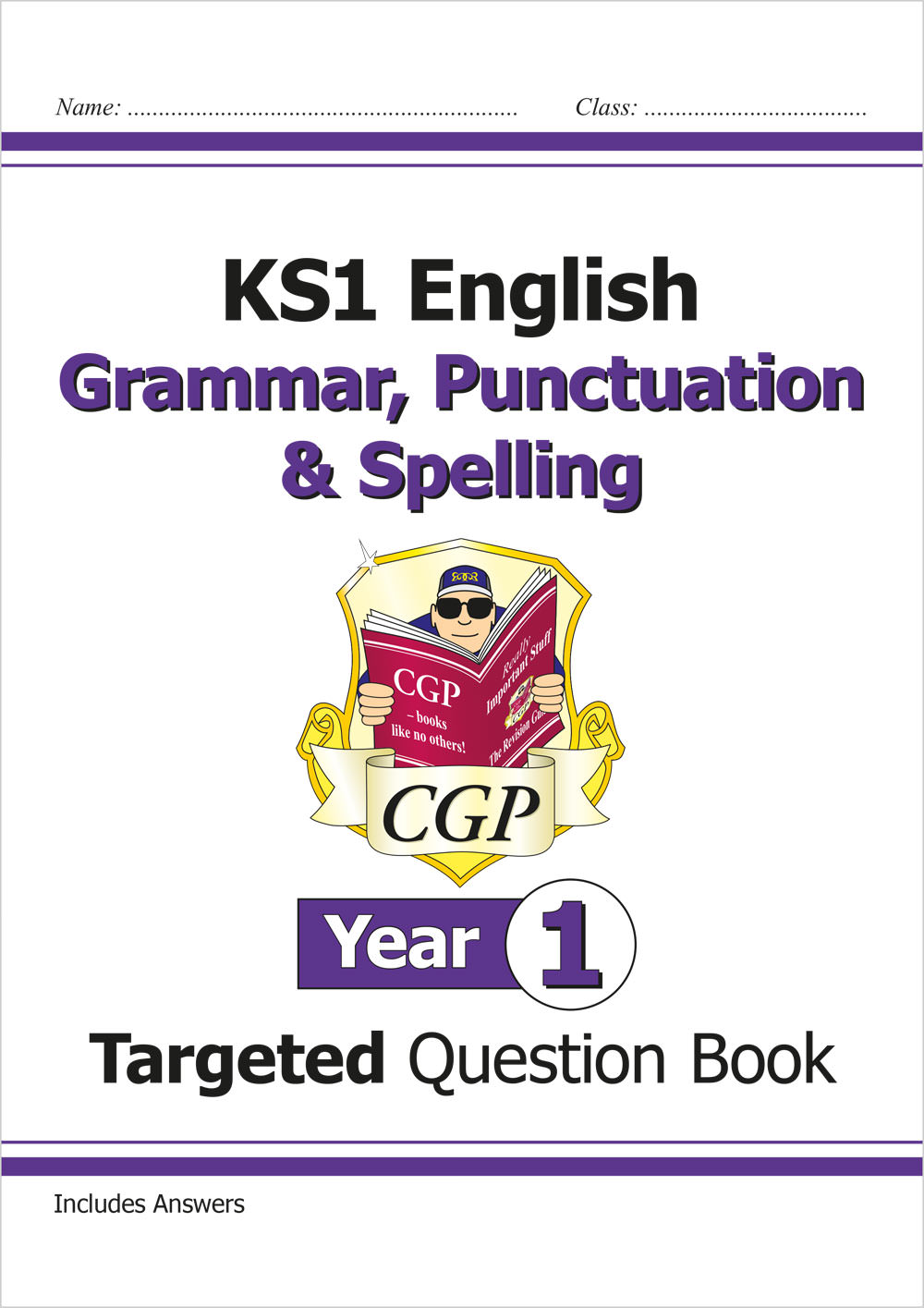E1W11 - KS1 English Targeted Question Book: Grammar, Punctuation & Spelling - Year 1