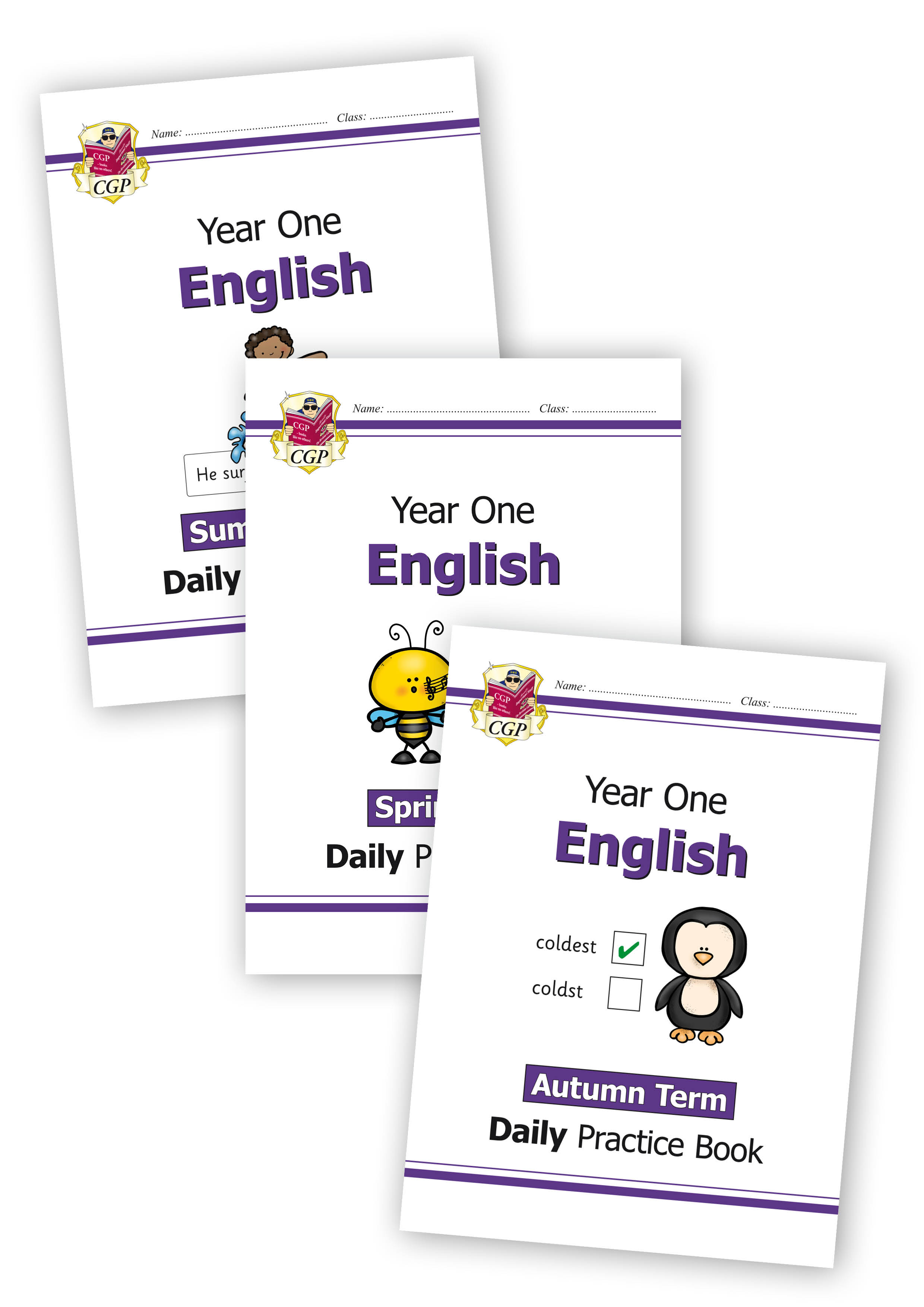 E1WB11 - New KS1 English Daily Practice Book Bundle: Year 1 - Autumn Term, Spring Term & Summer Term