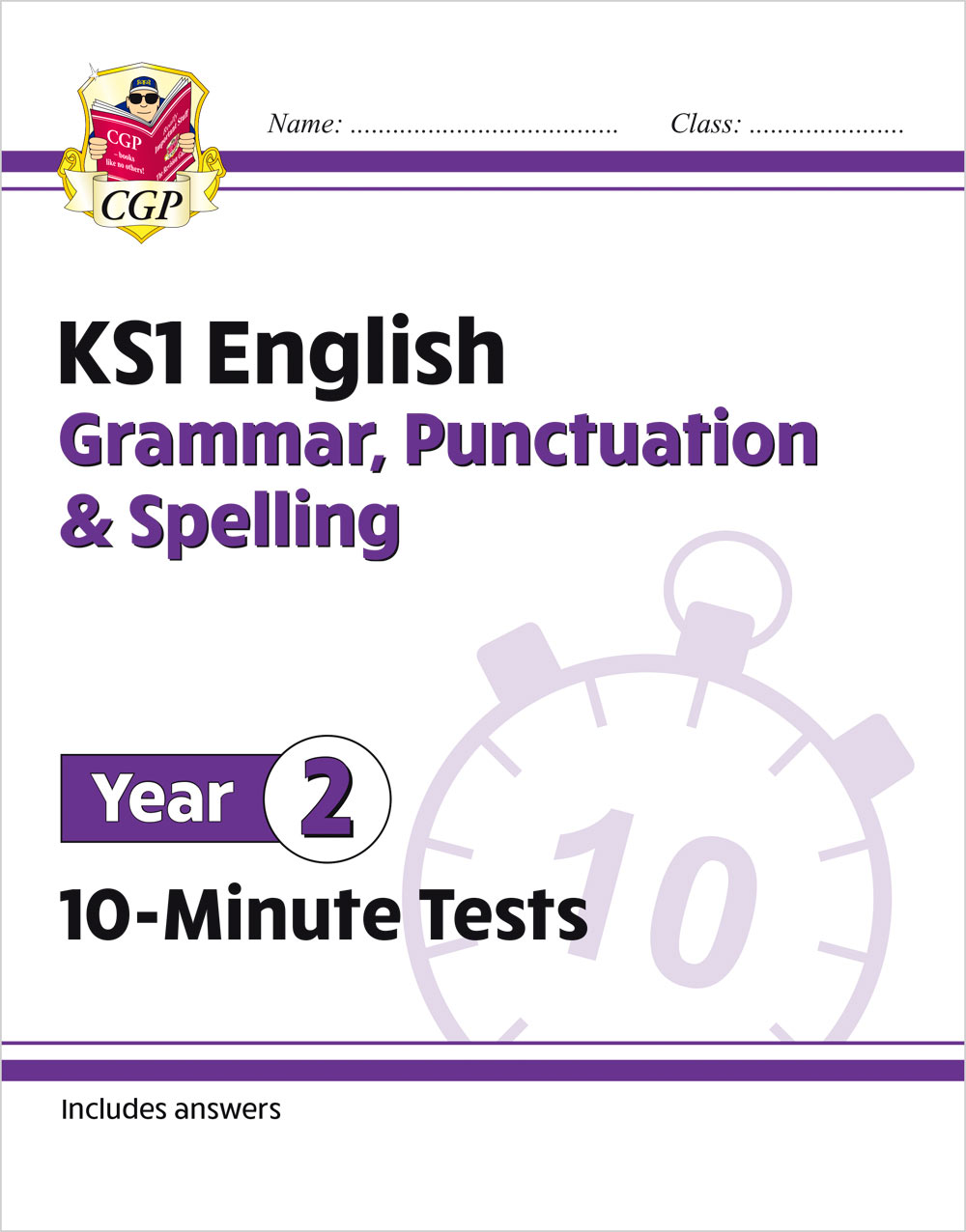 E2GXP11 - New KS1 English 10-Minute Tests: Grammar, Punctuation & Spelling - Year 2