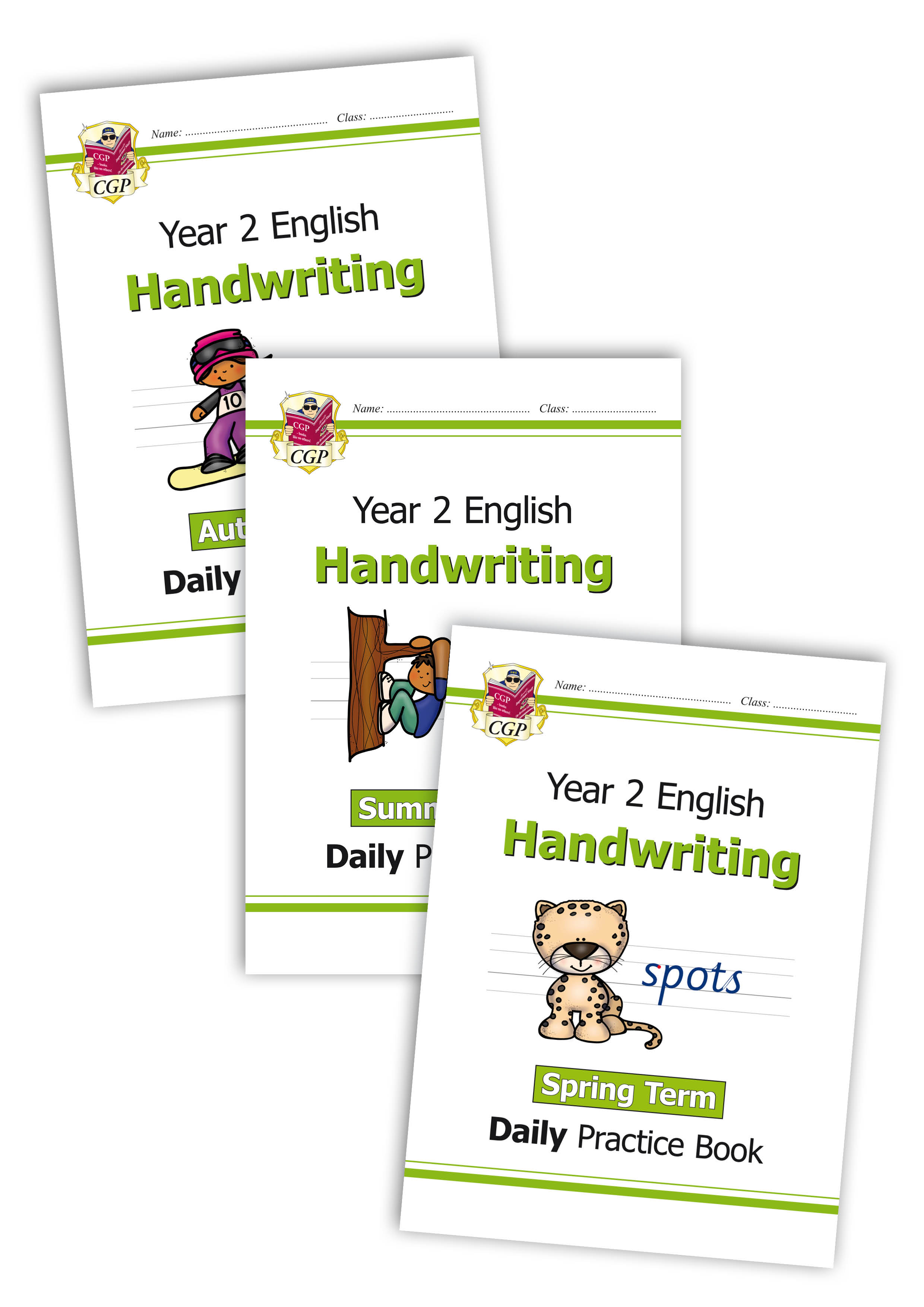 E2HWB11 - New KS1 Handwriting Daily Practice Book Bundle: Year 2 - Autumn Term, Spring Term & Summer