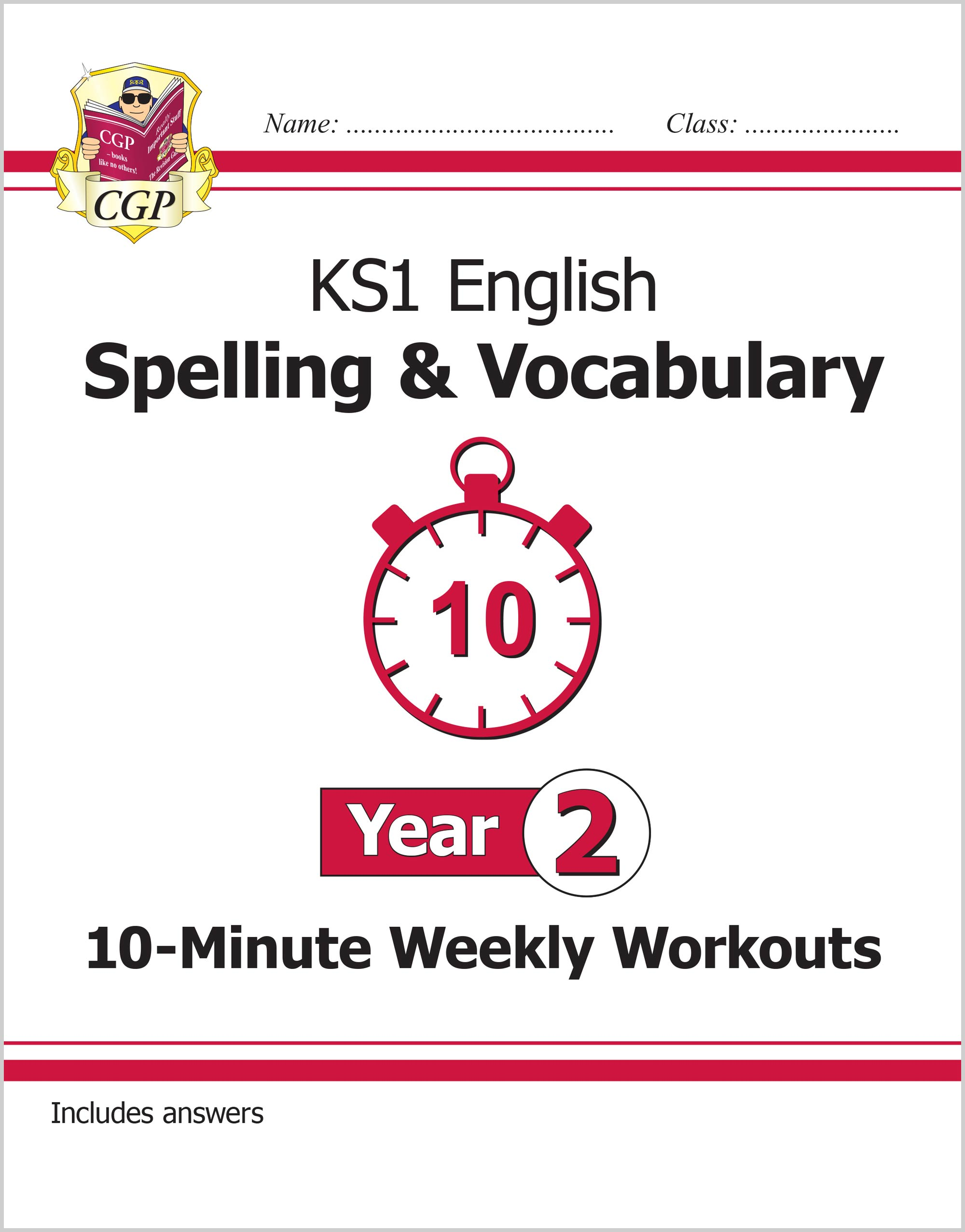 E2VSXW11 - New KS1 English 10-Minute Weekly Workouts: Spelling & Vocabulary - Year 2