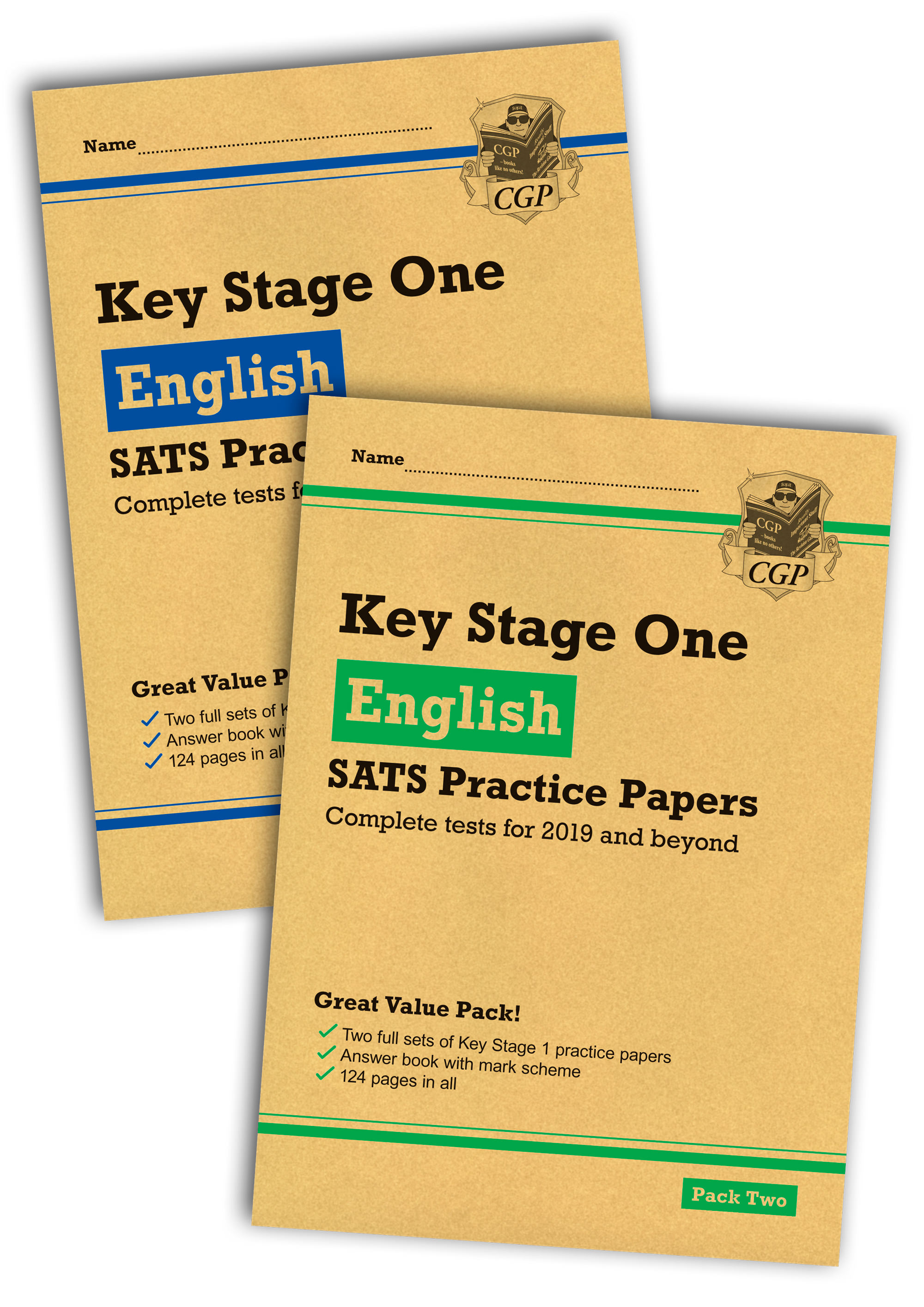 EHB2P13 - New KS1 English SATS Practice Paper Bundle: Pack 1 & 2 (for the 2019 tests)