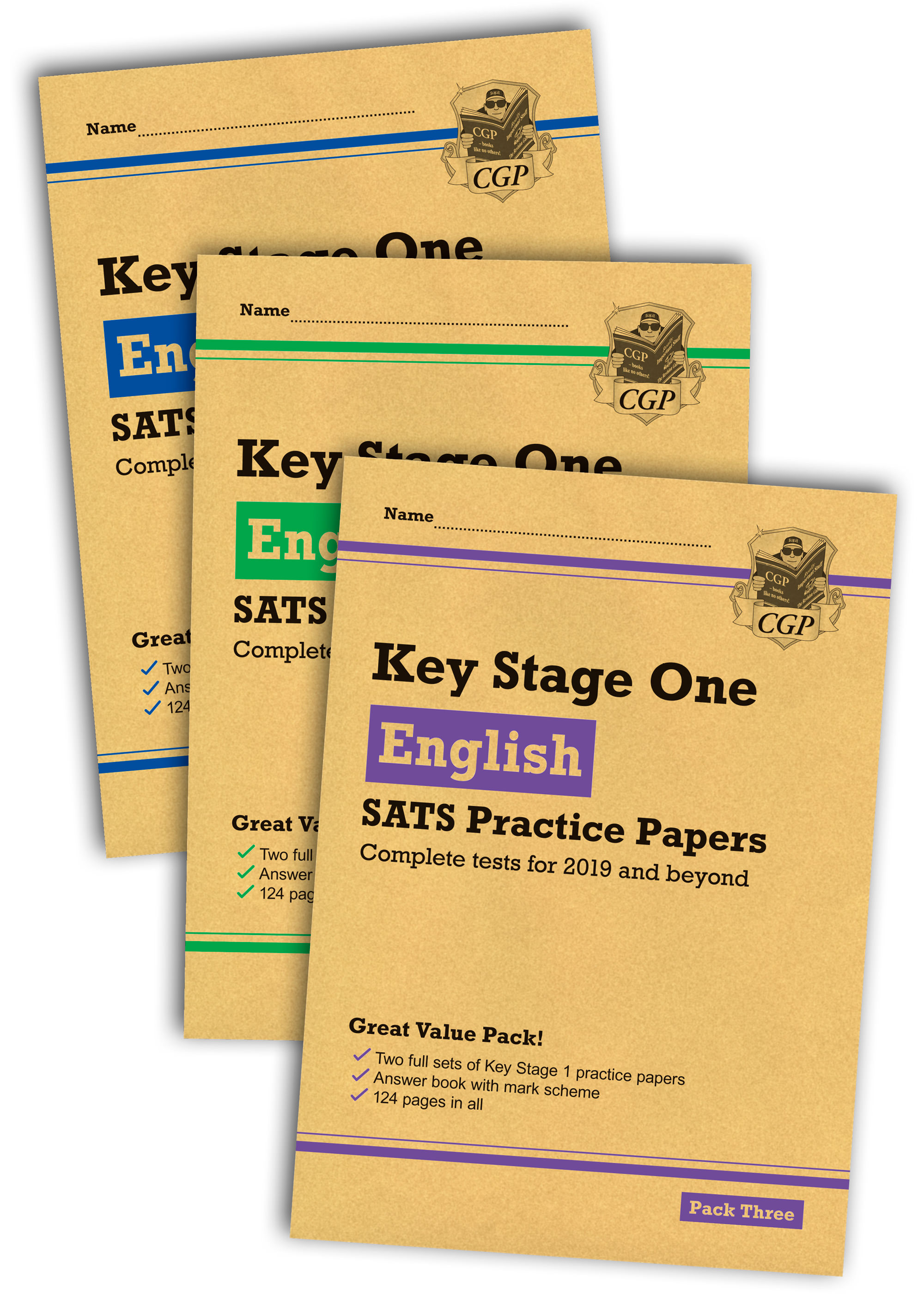 EHB3P13 - New KS1 English SATS Practice Paper Bundle: Packs 1, 2 & 3 (for the 2020 tests)