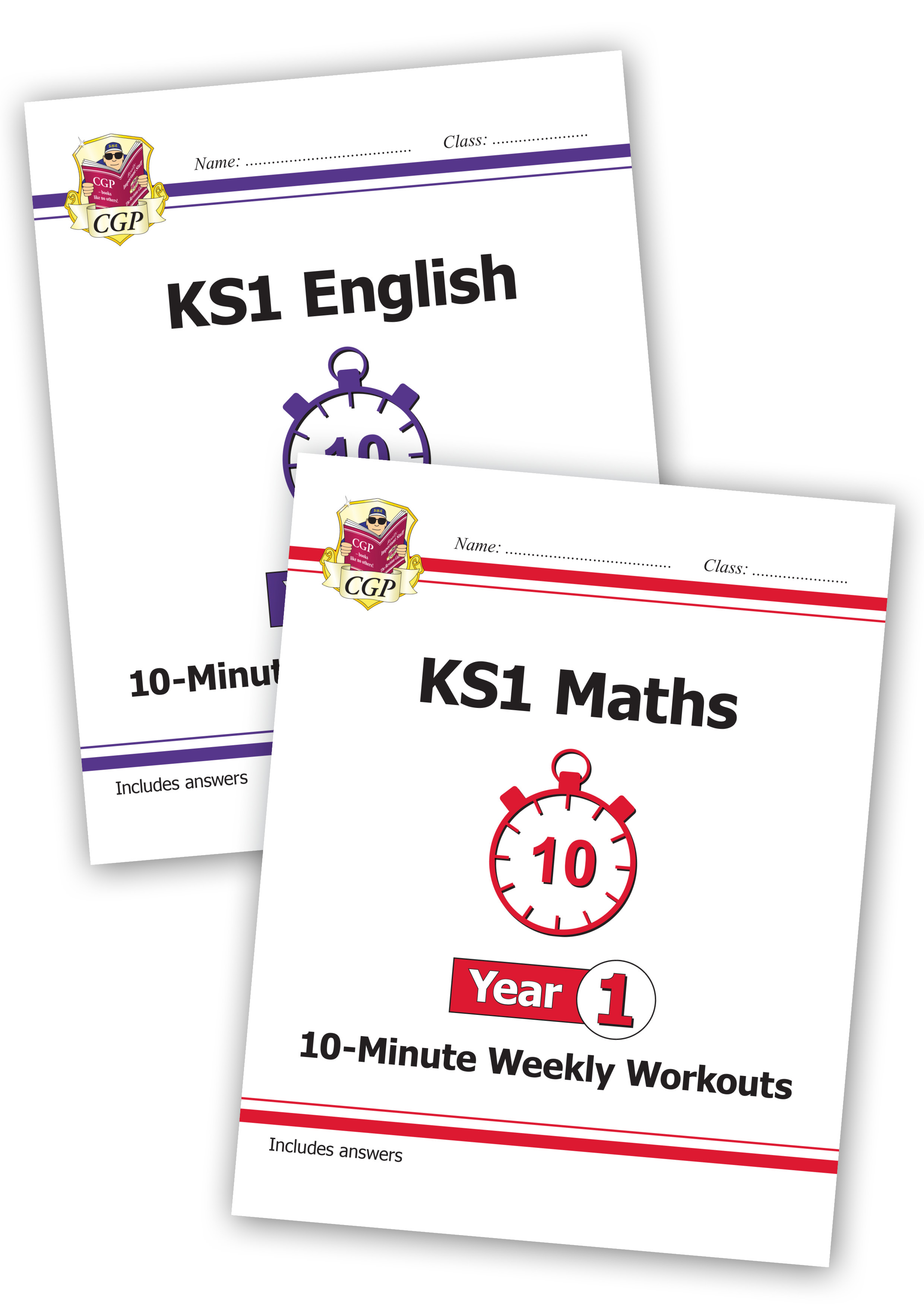 EM1XWB11 - New KS1 Maths and English 10-Minute Weekly Workouts Bundle - Year 1
