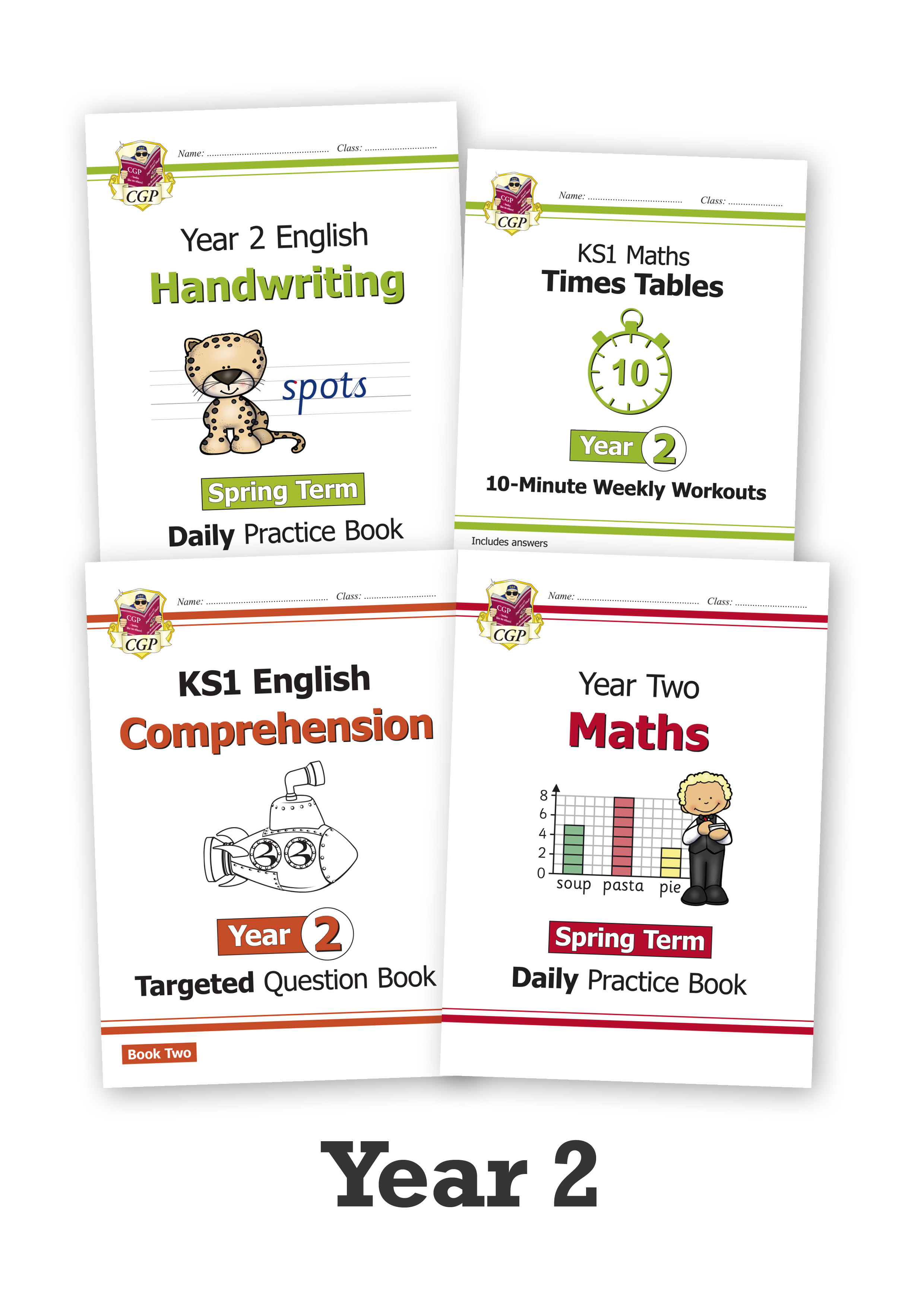 EM2CUB211 - Year 2 Home Learning Essentials – Spring Top-Up Bundle