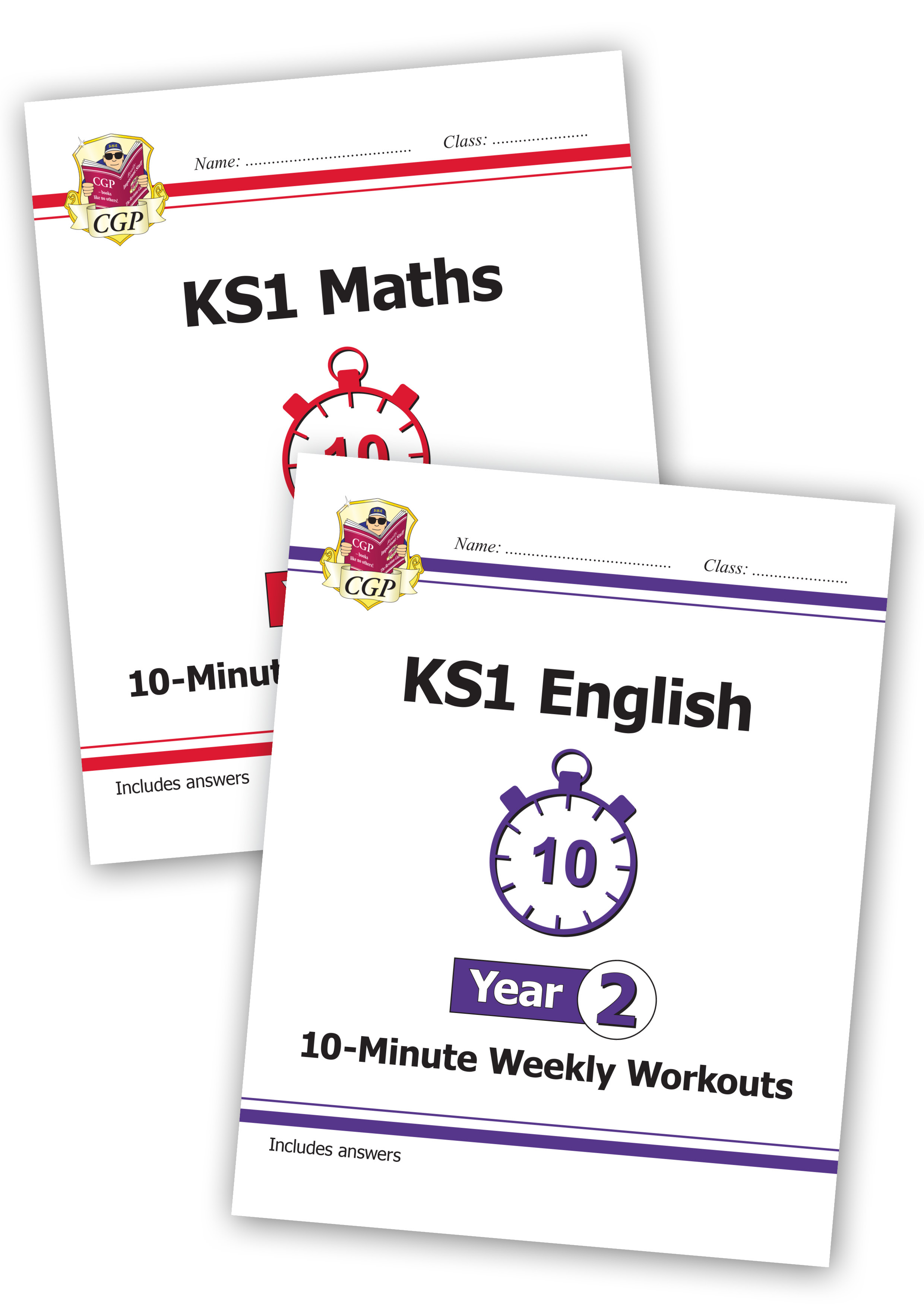 EM2XWB11 - New KS1 Maths and English 10-Minute Weekly Workouts Bundle - Year 2