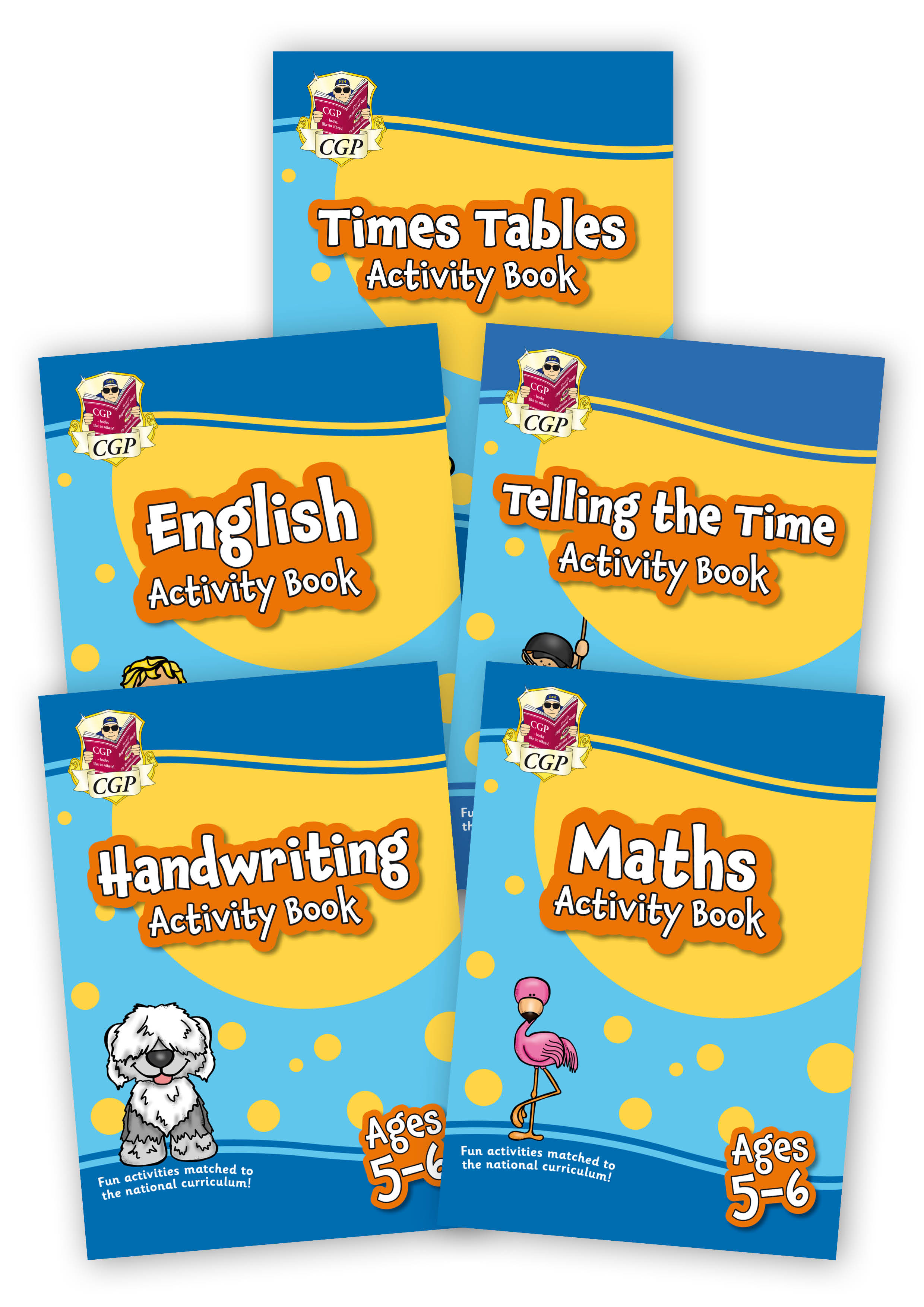 EMPF1B11 - New Home Learning Activity Books - 5-book bundle: KS1 Ages 5-6