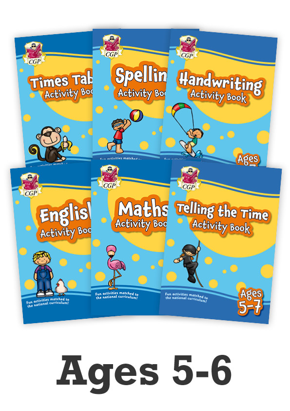 EMPF1B12 - New Ages 5-6 Activity Books - 6-Book bundle