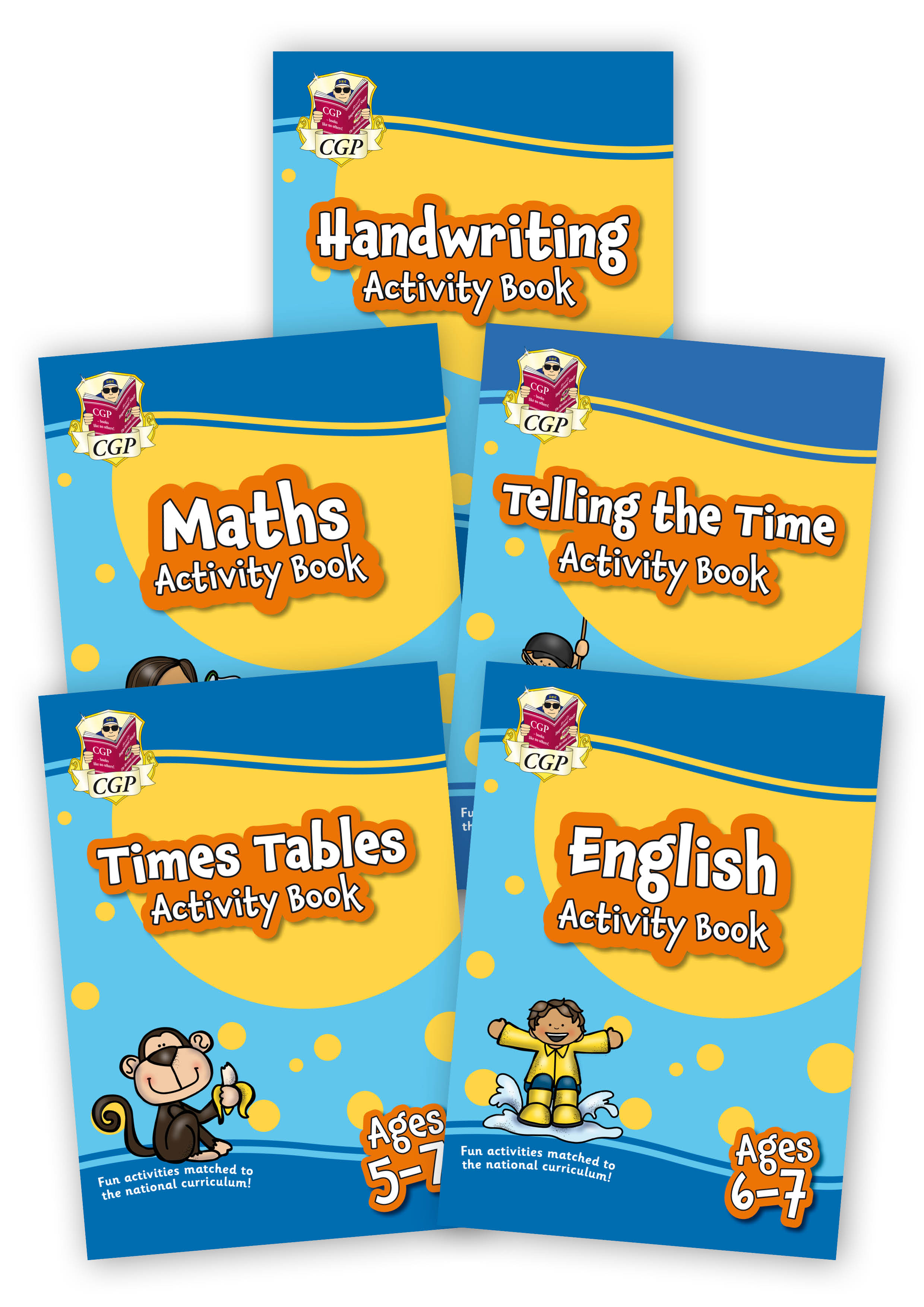 EMPF2B11 - New Home Learning Activity Books - 5-book bundle: KS1 Ages 6-7