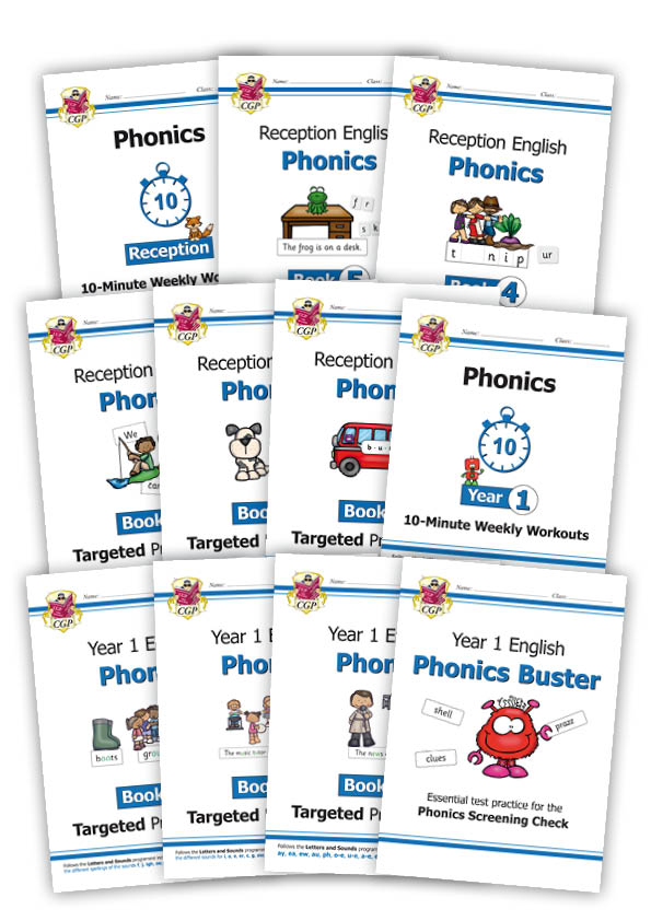 EOWB12 - New KS1 English Phonics: Complete Bundle for Reception & Year 1 (11 books)