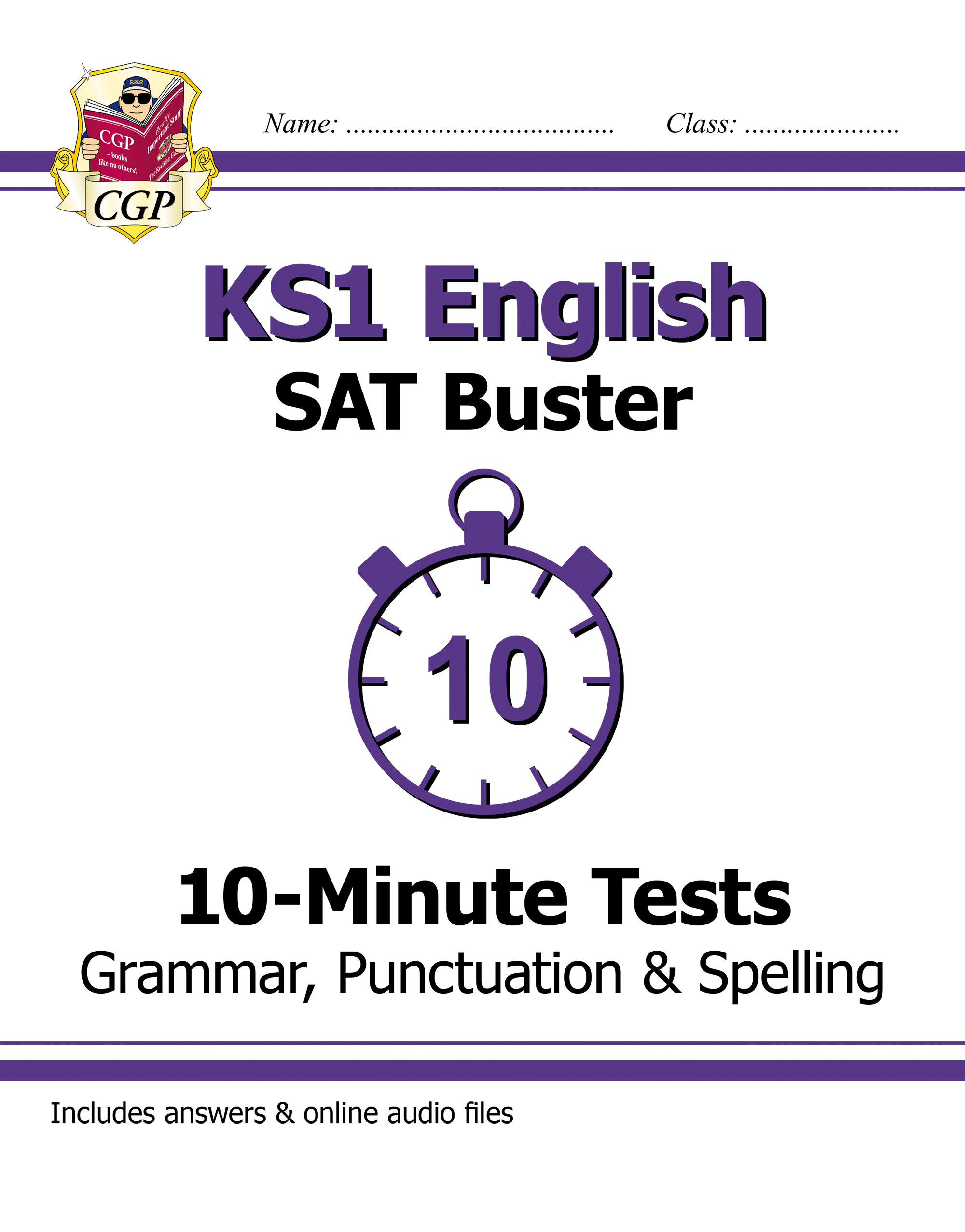 EXPG11DK - KS1 English SAT Buster 10-Minute Tests: Grammar, Punctuation & Spelling (for the 2019 tes